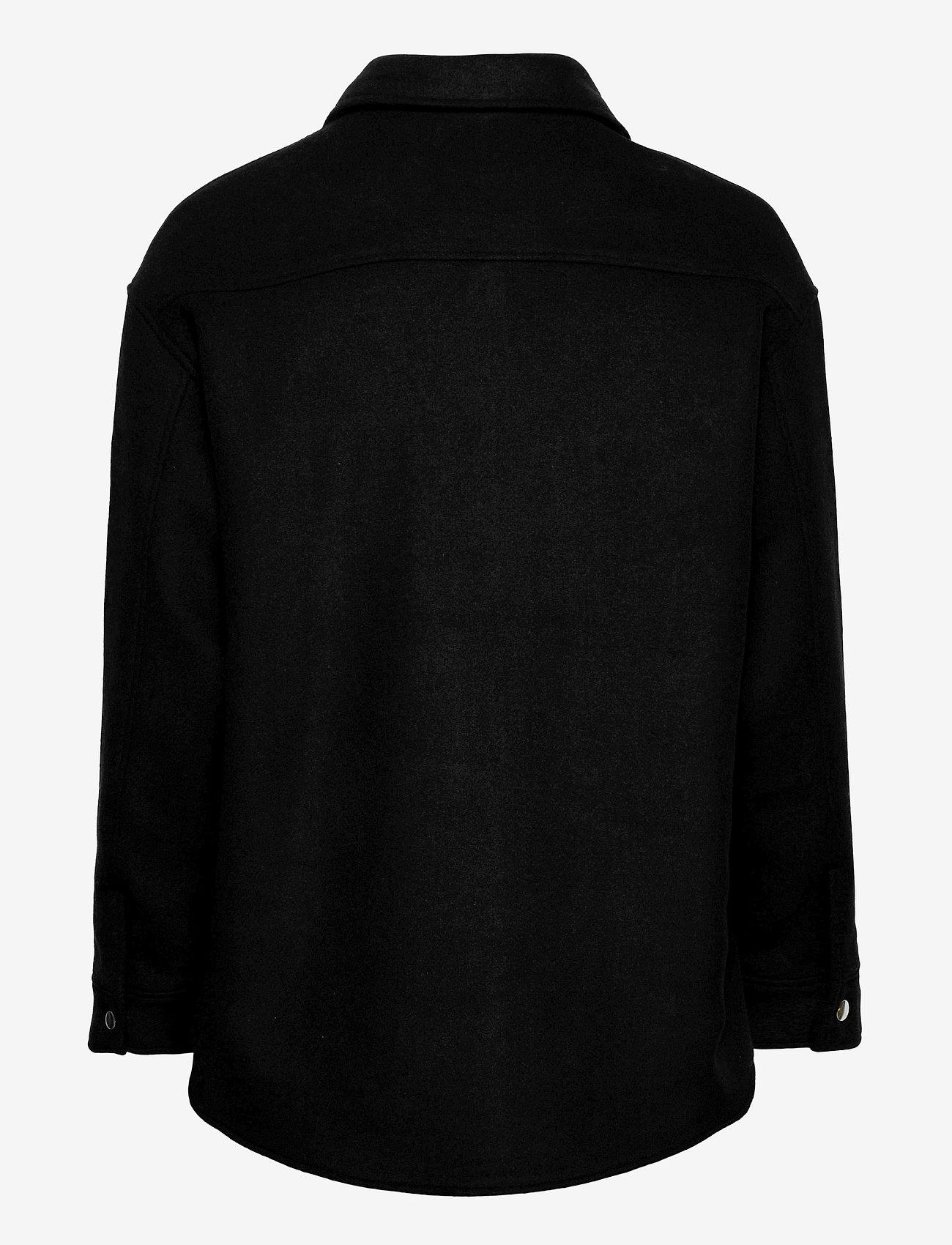 Selected Femme - SLFTESSA WOOL SHIRT JACKET - wool jackets - black - 1