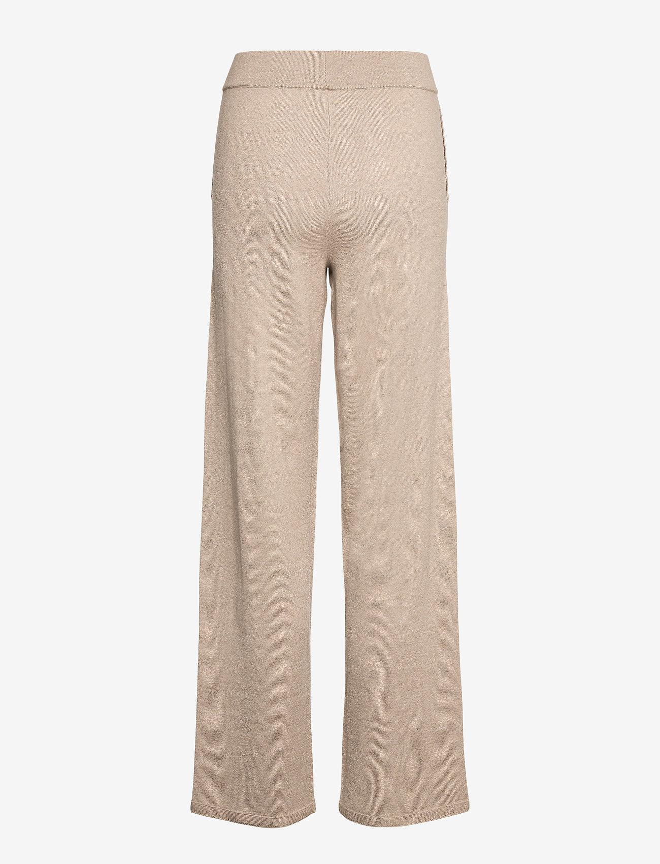Selected Femme - SLFINKA MW LONG KNIT PANT - sweatpants - sand - 1