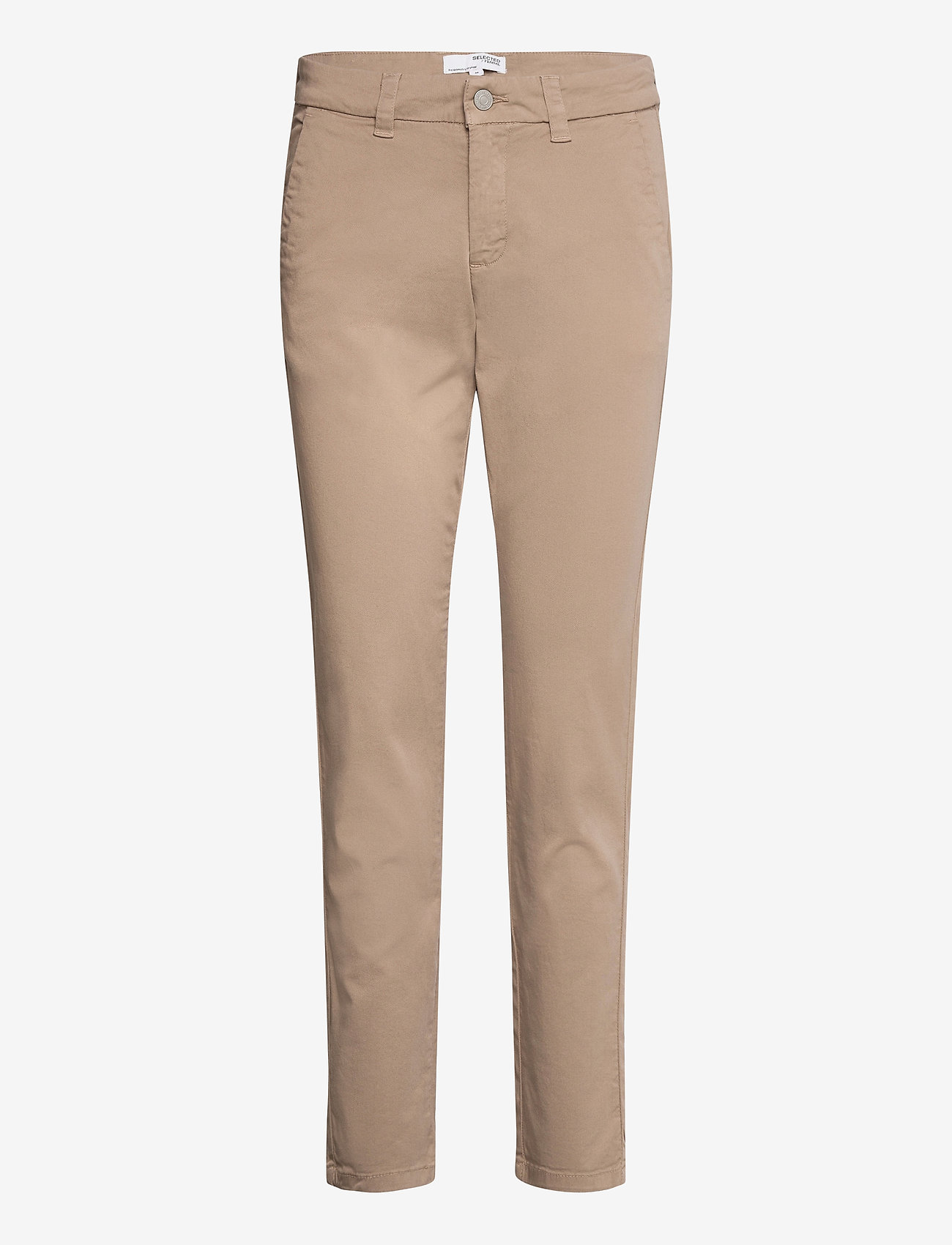 Selected Femme - SLFMILEY MW CHINO U - chinos - silver mink - 0