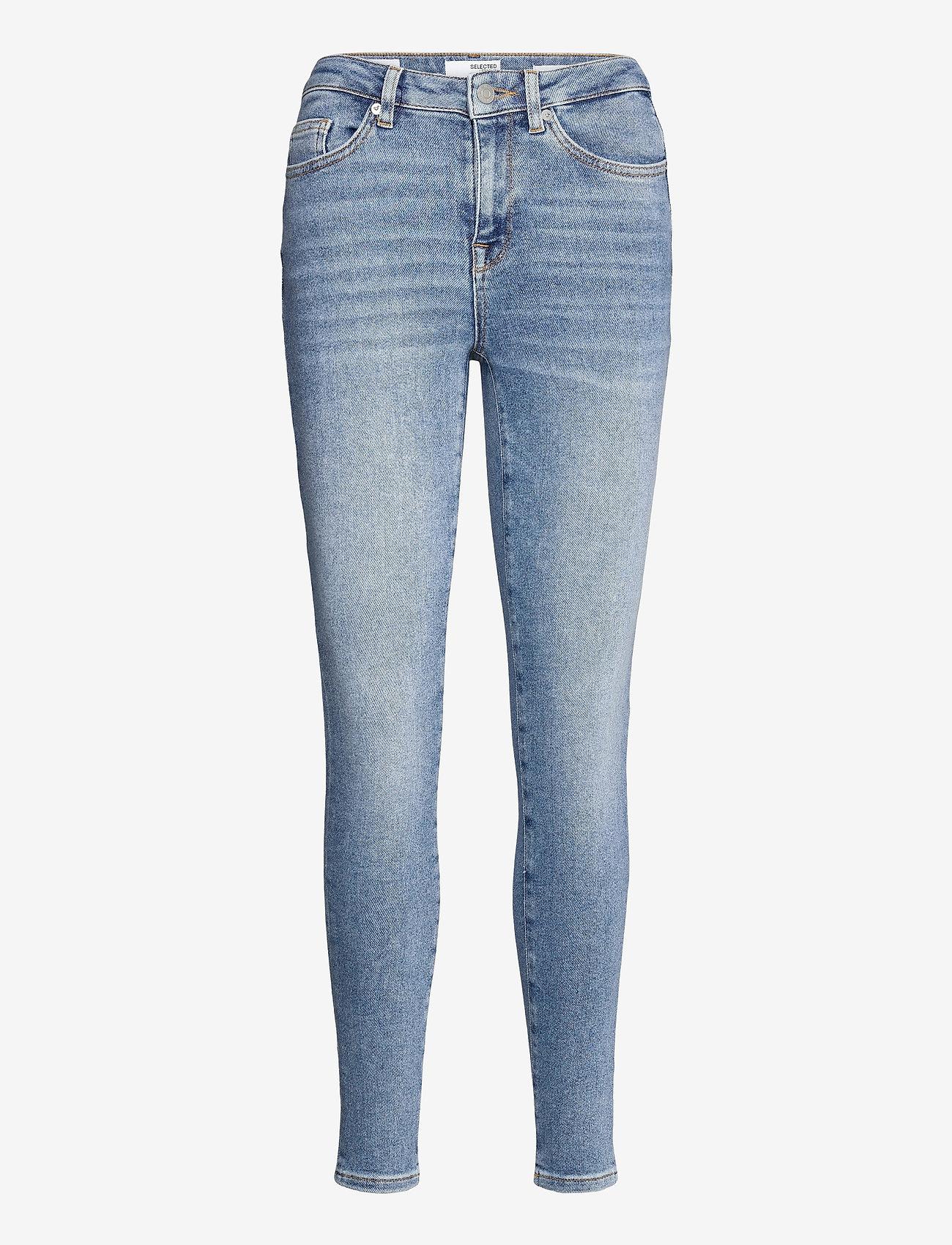 Selected Femme - SLFSOPHIA MW SKINNY MIDLUE JEAN U - skinny jeans - medium blue denim - 0