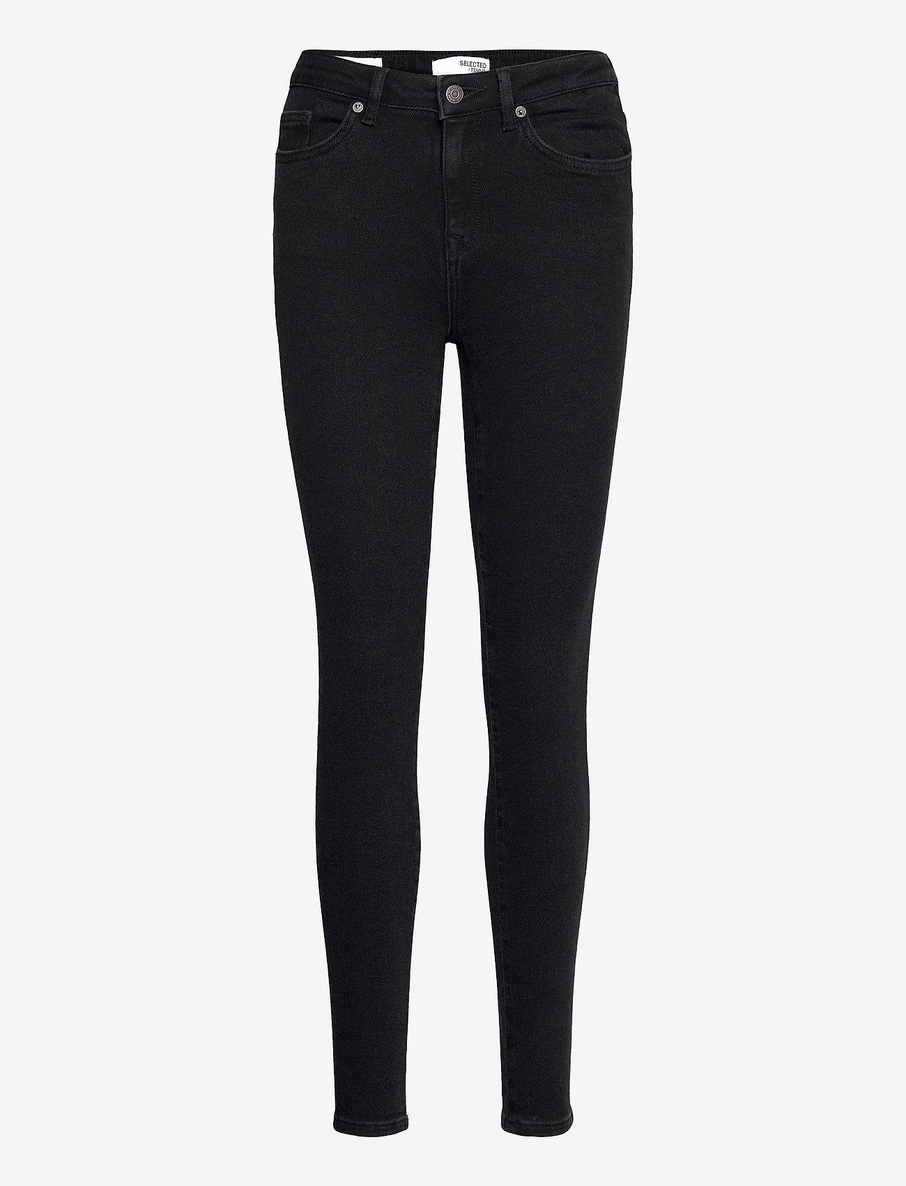 Selected Femme - SLFSOPHIA MW SKINNY  BLACK JEANS U - skinny jeans - black denim - 0