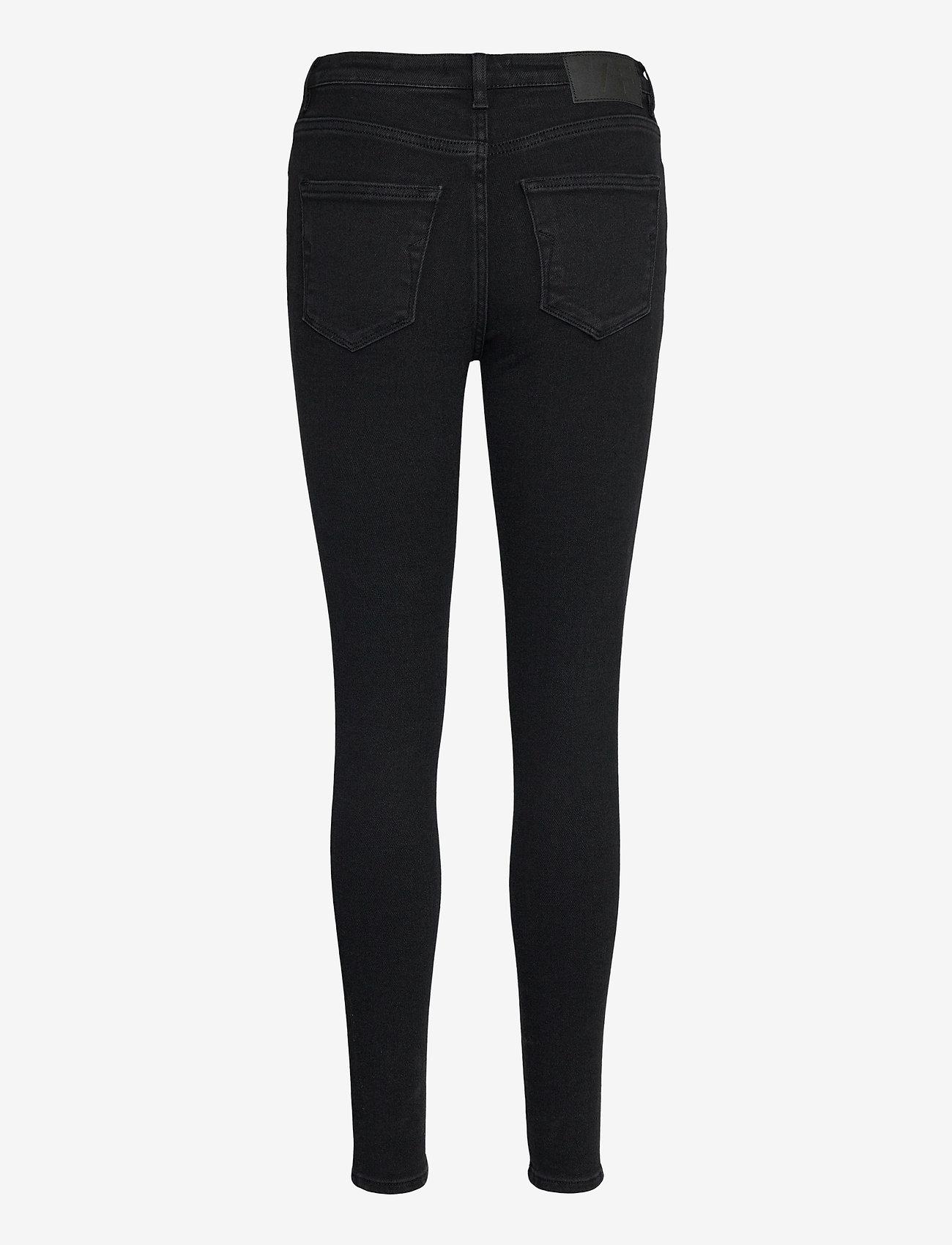 Selected Femme - SLFSOPHIA MW SKINNY  BLACK JEANS U - skinny jeans - black denim - 1