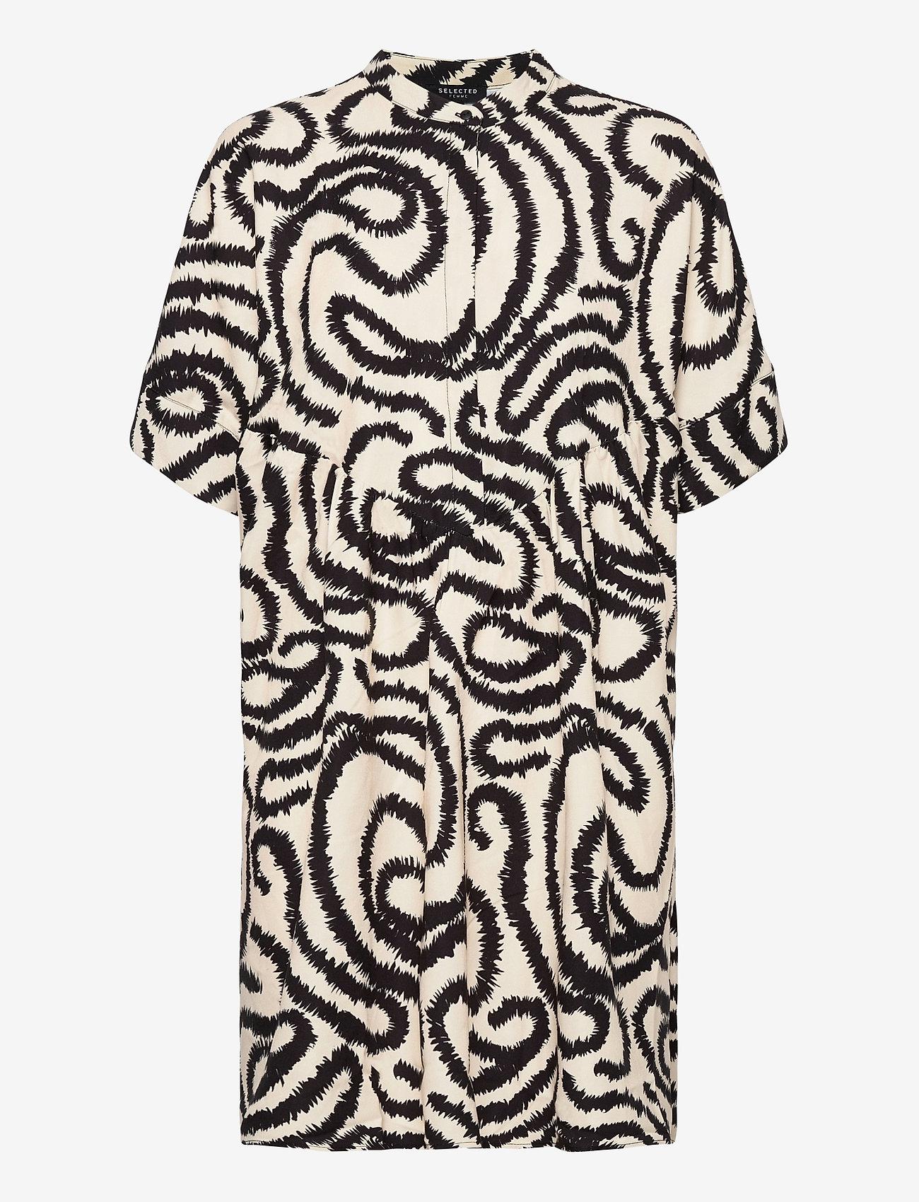 Selected Femme - SLFMARILYN-VIOLA 2/4 DRESS EX - alledaagse jurken - sandshell - 0