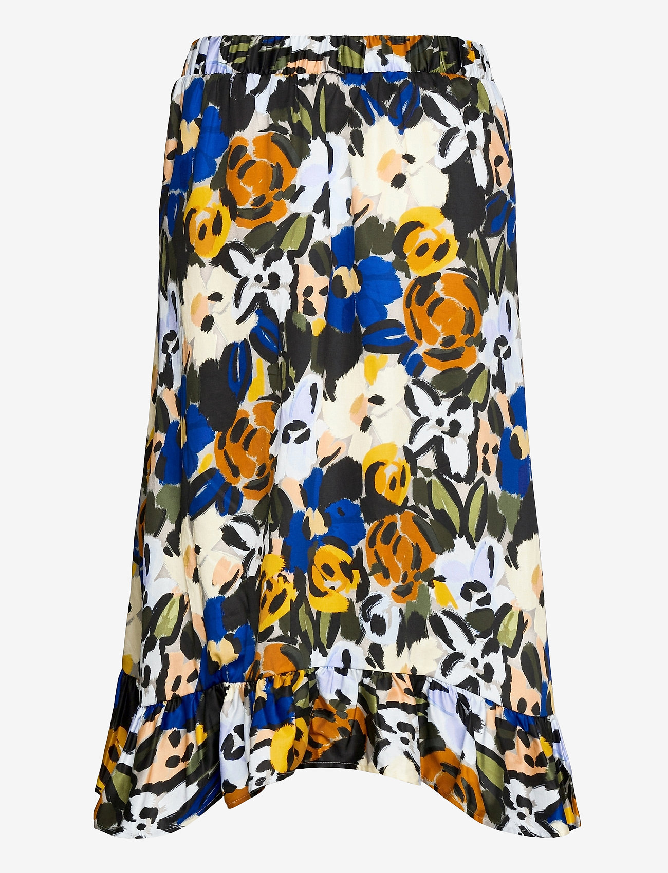Selected Femme - SLFRONNA MW AOP MIDI SKIRT B - midi skirts - sudan brown - 1