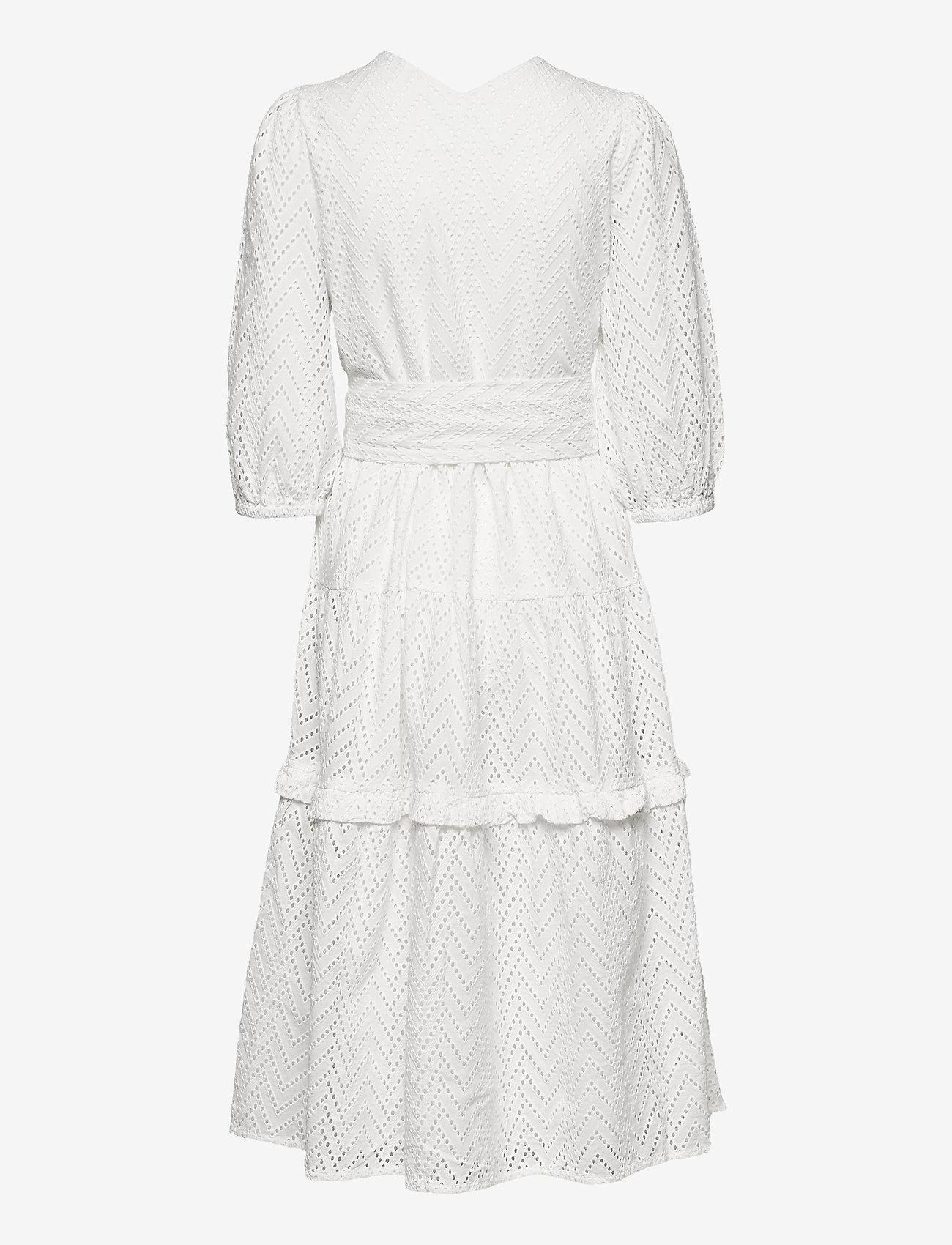 Selected Femme - SLFCECE-SADIE 3/4 MIDI DRESS - sommerkjoler - snow white - 1