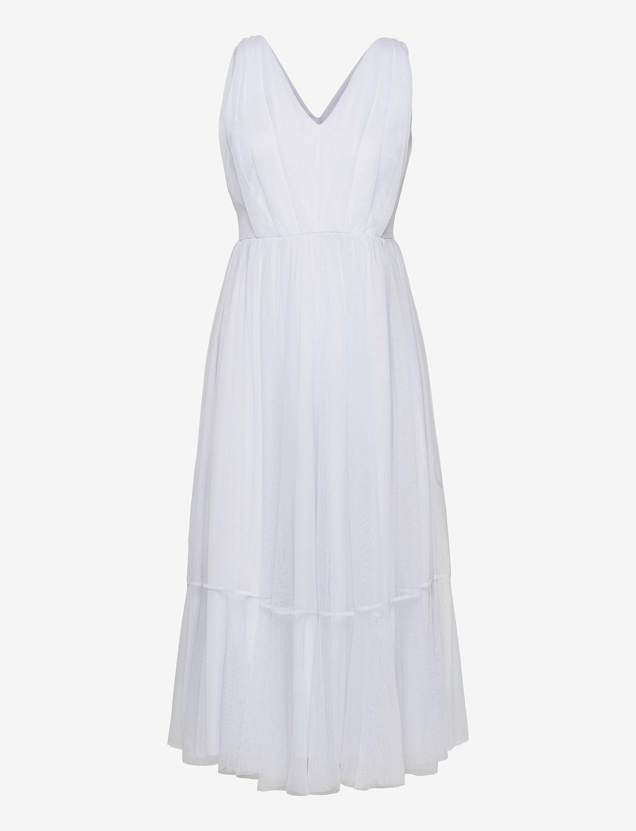 Selected Femme - SLFSUZY SL MIDI TULLE DRESS B - sommerkjoler - arctic ice - 0