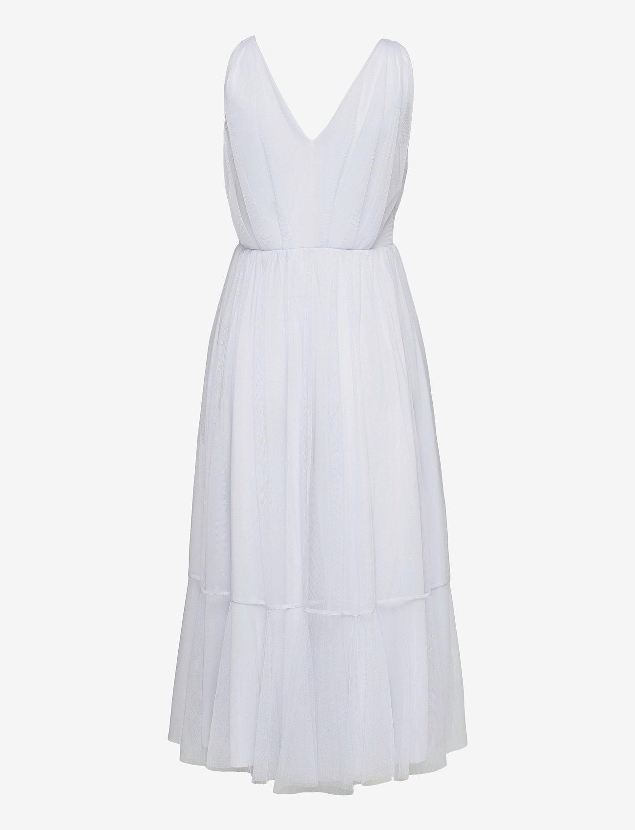 Selected Femme - SLFSUZY SL MIDI TULLE DRESS B - sommerkjoler - arctic ice - 1