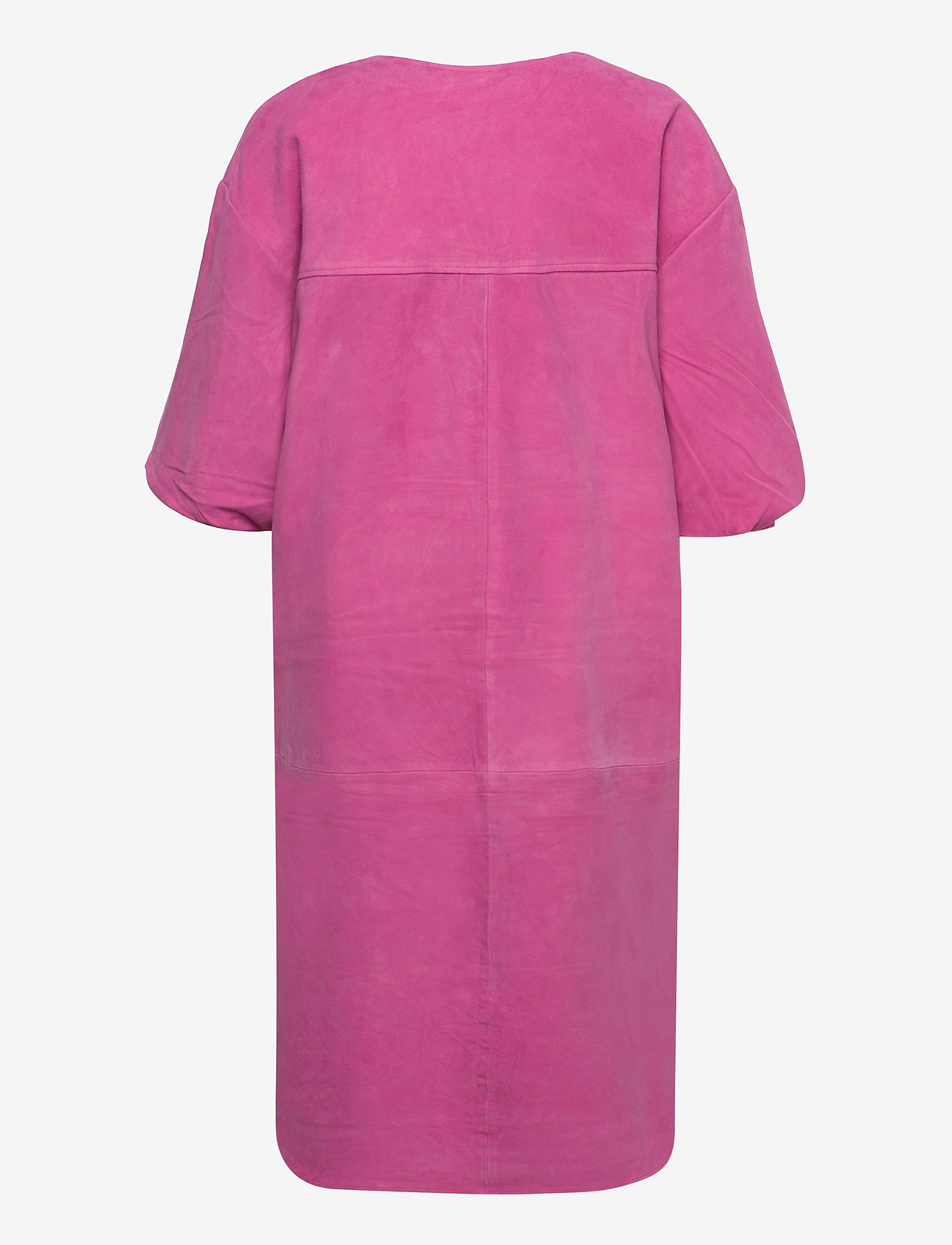 Selected Femme - SLFVANESSA 2/4 LEATHER SHIRT DRESS - alltagskleider - rose violet - 1