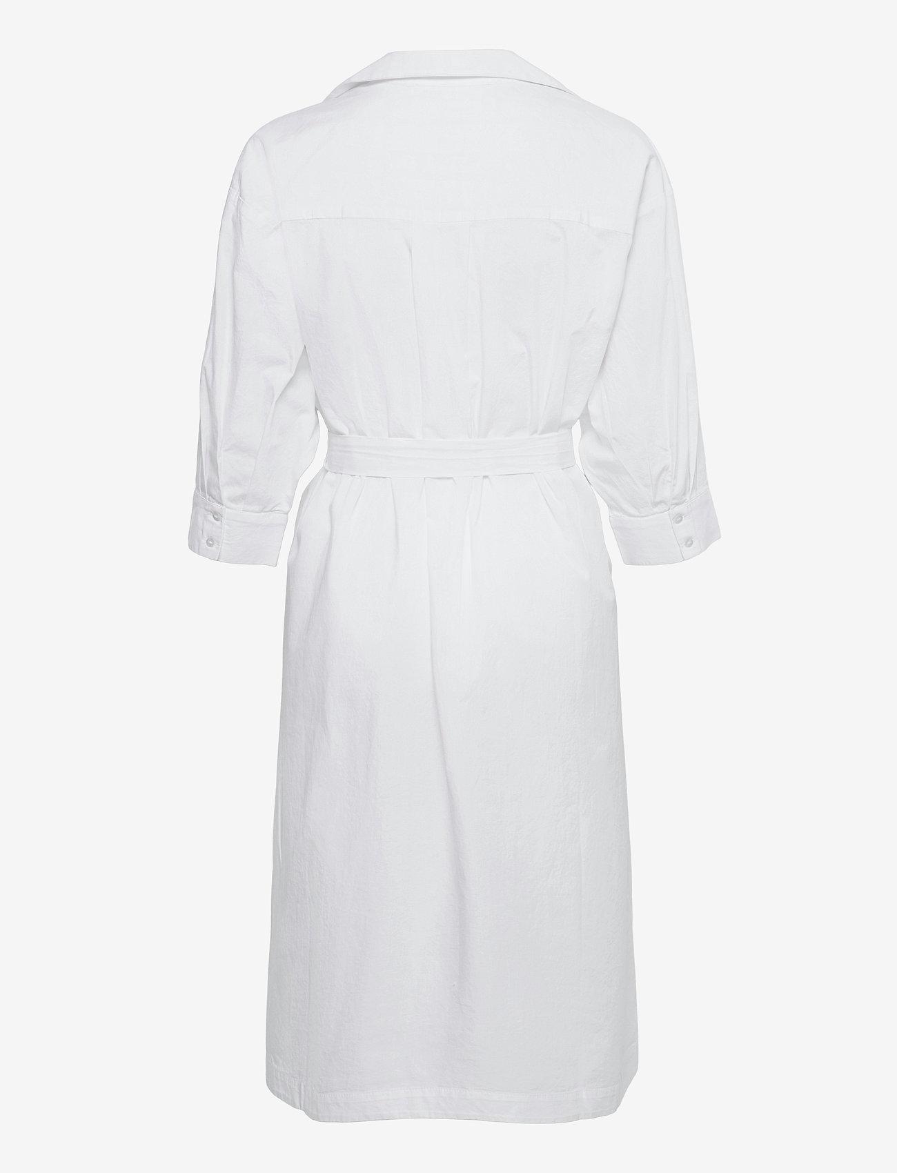Selected Femme - SLFAMBER 3/4 SHIRT DRESS W - midi-kleider - bright white - 1