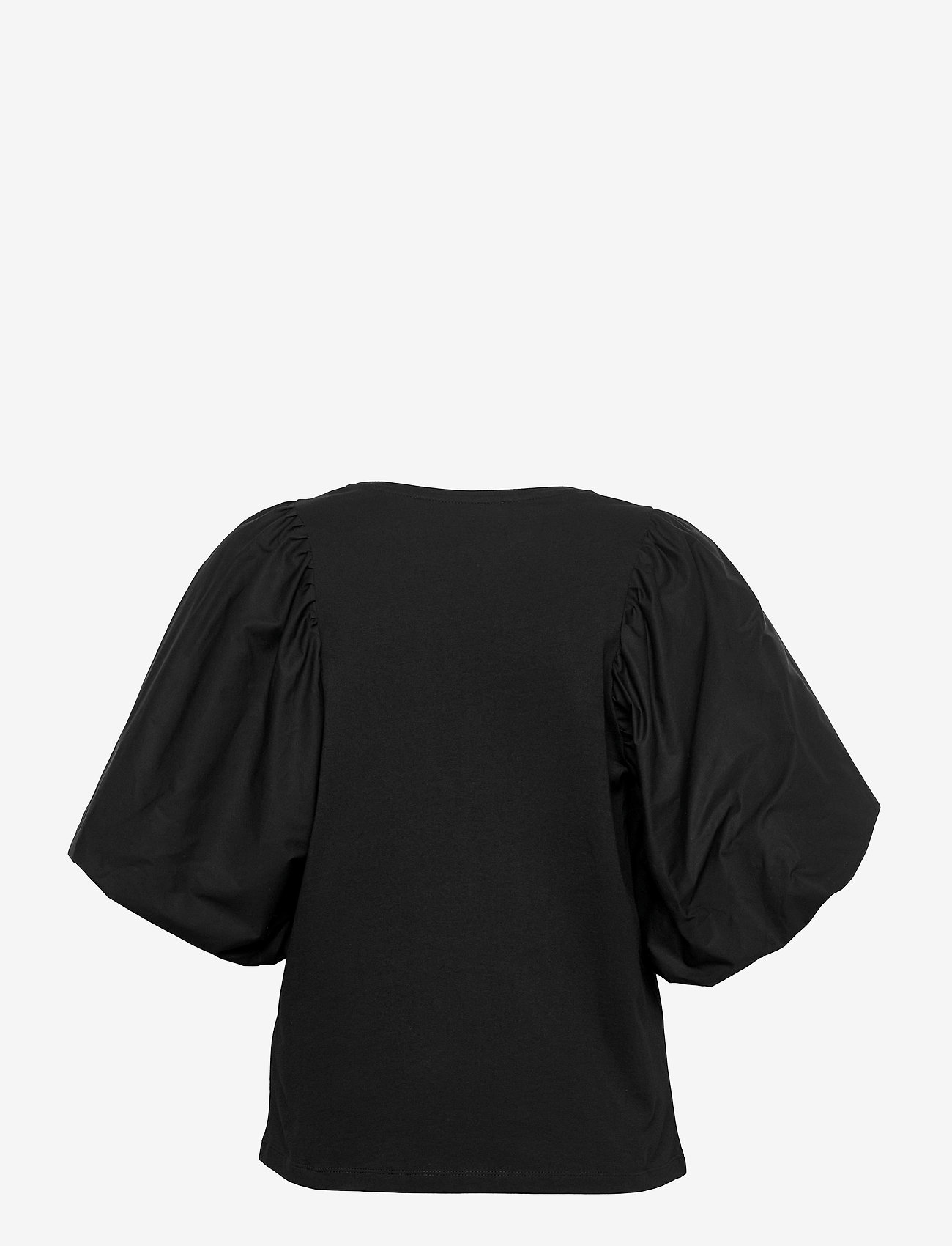 Selected Femme - SLFADRIANNA 2/4 TEE - kurzämlige blusen - black - 1