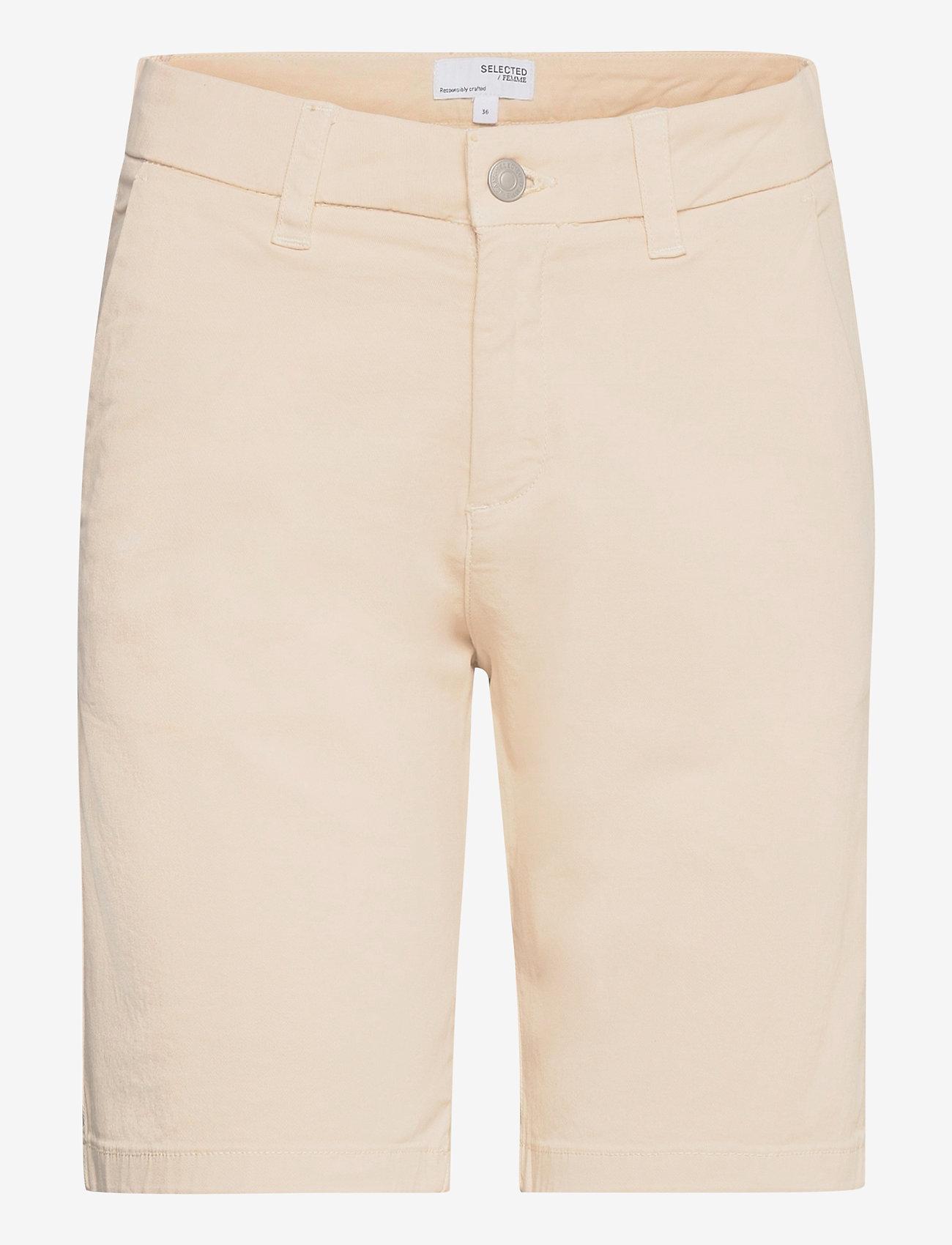 Selected Femme - SLFMILEY MW  SHORTS U - chino shorts - birch - 0