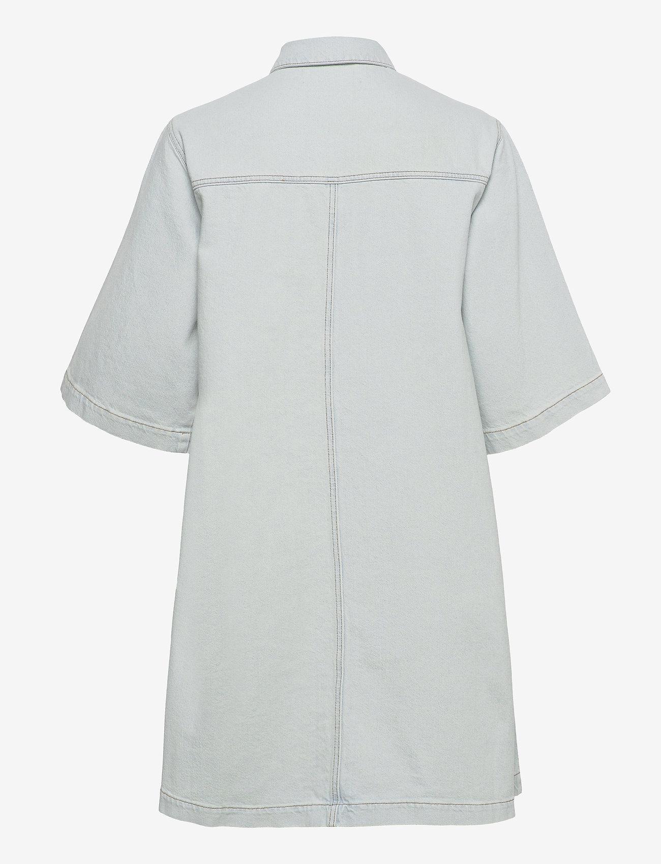 Selected Femme - SLFRUBYRIGHTLUE 3/4 SS DENIM DRESS U - sommerkleider - light blue denim - 1