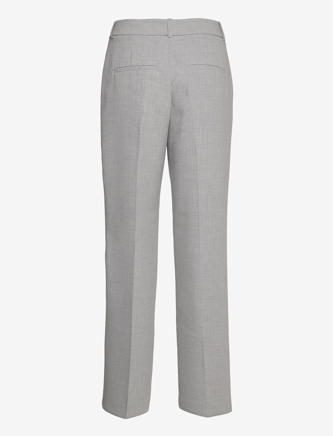 Selected Femme - SLFRITA MW WIDE PANT LGM B - straight leg hosen - light grey melange - 1