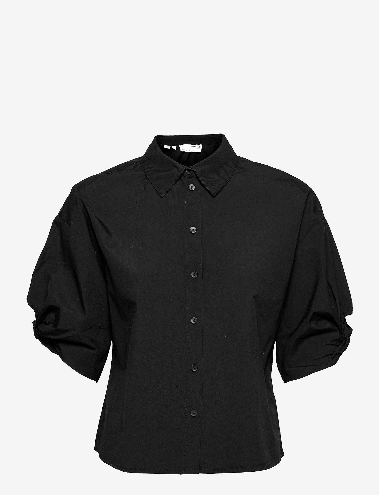 Selected Femme - SLFLILO 2/4 SHIRT M - jeanshemden - black - 0