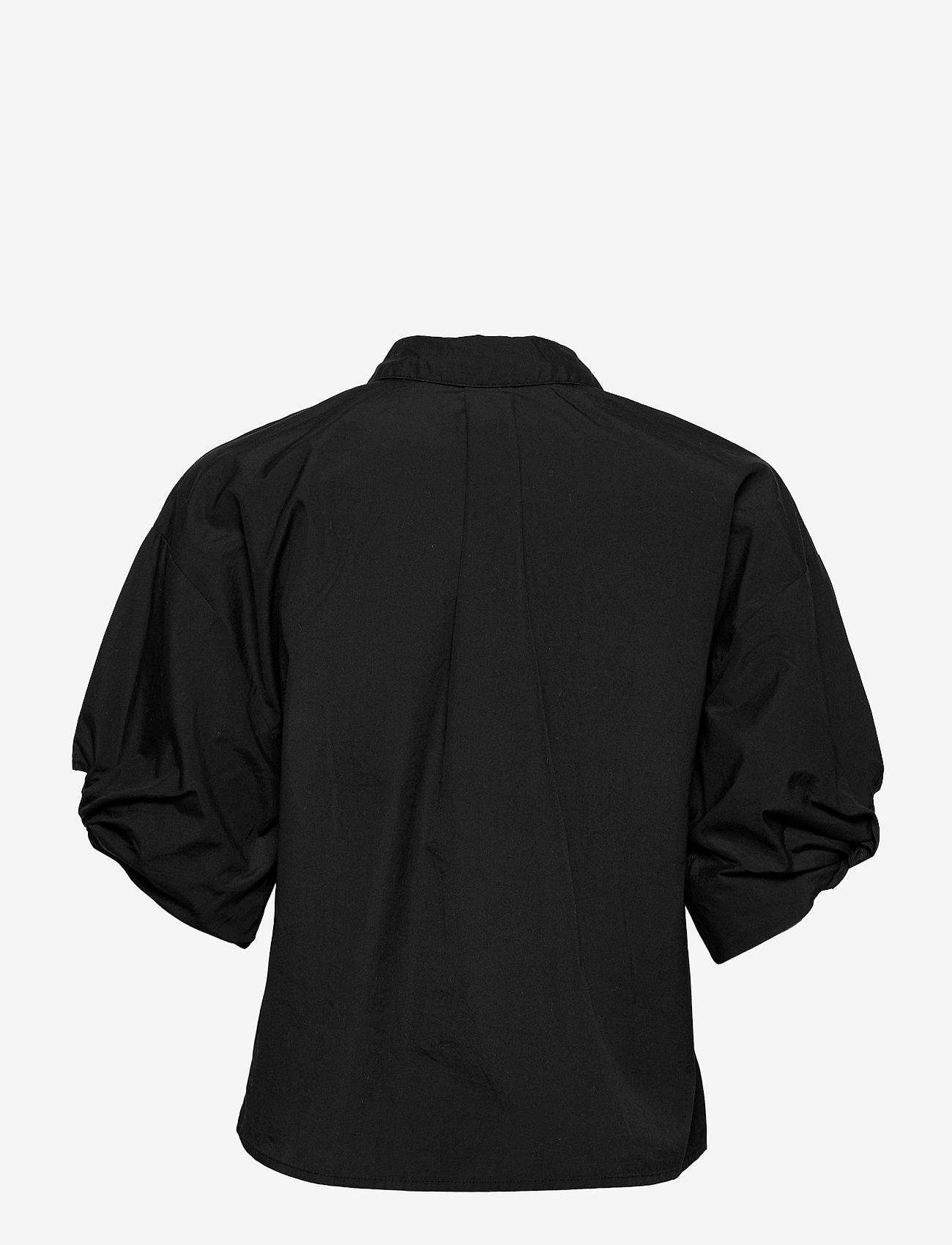 Selected Femme - SLFLILO 2/4 SHIRT M - jeanshemden - black - 1