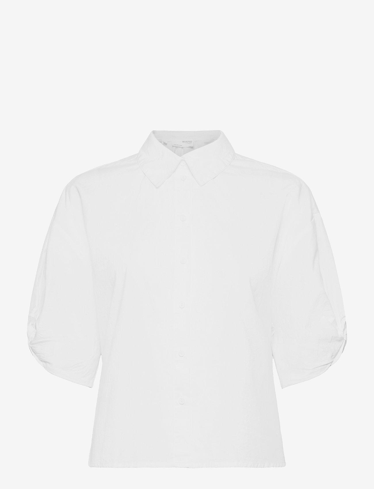 Selected Femme - SLFLILO 2/4 SHIRT M - jeanshemden - bright white - 0