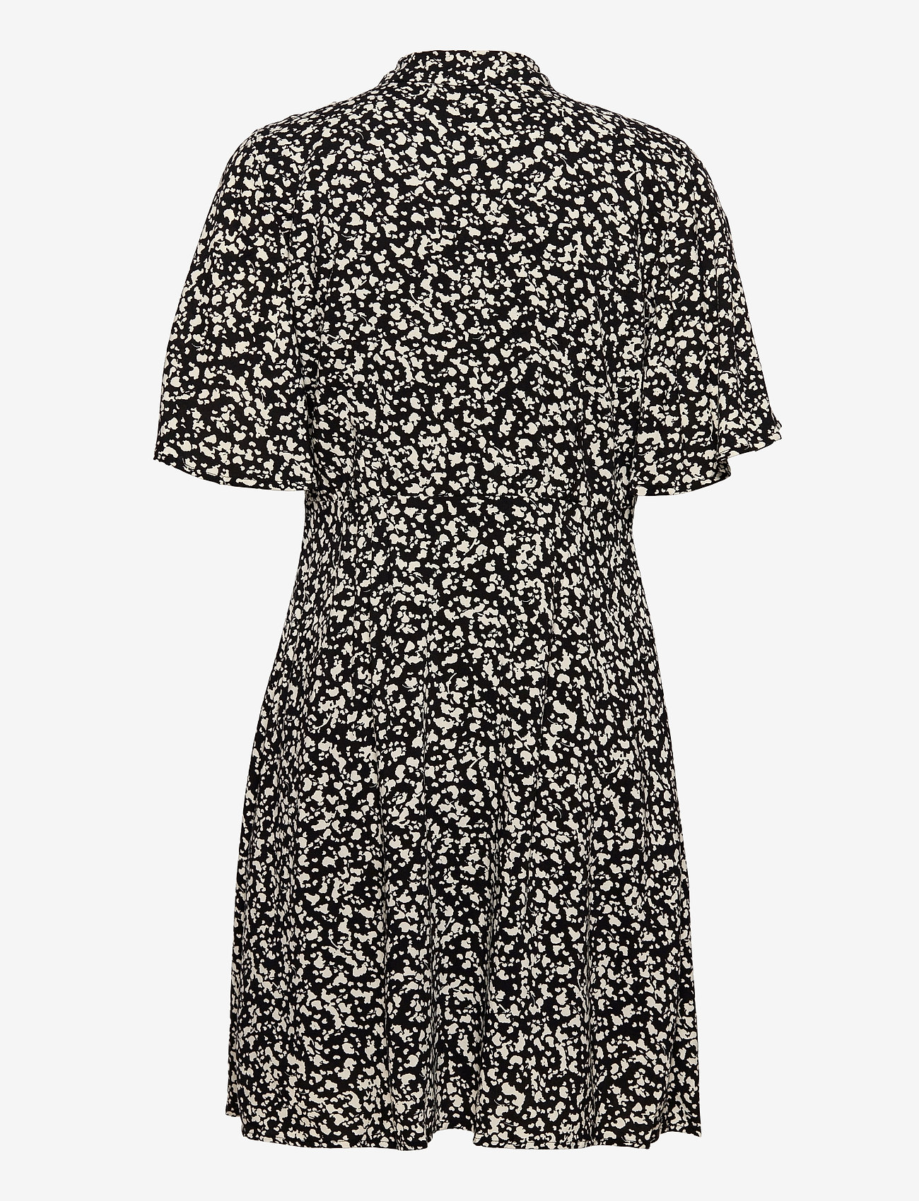 Selected Femme - SLFUMA 2/4 SHORT AOP SHIRT DRESS M - midi-kleider - black - 1