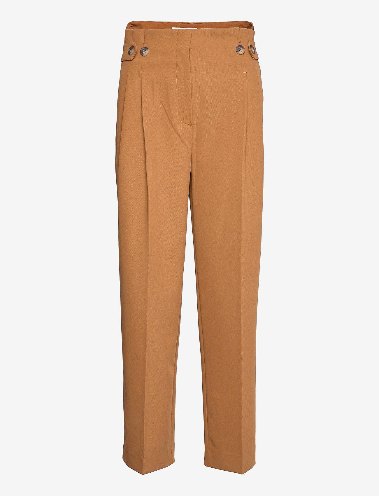 Selected Femme - SLFLEVA HW PANT B - straight leg hosen - rubber - 0