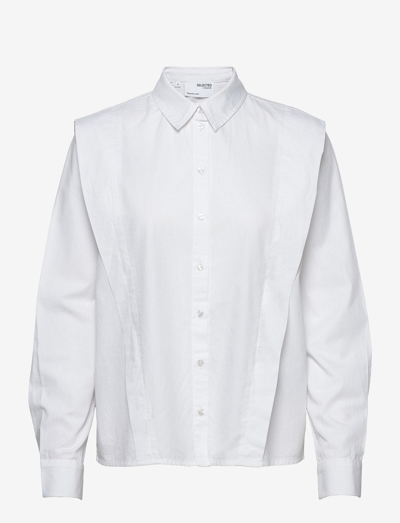 Selected Femme - SLFBELLO LS SHIRT W - jeanshemden - bright white - 0