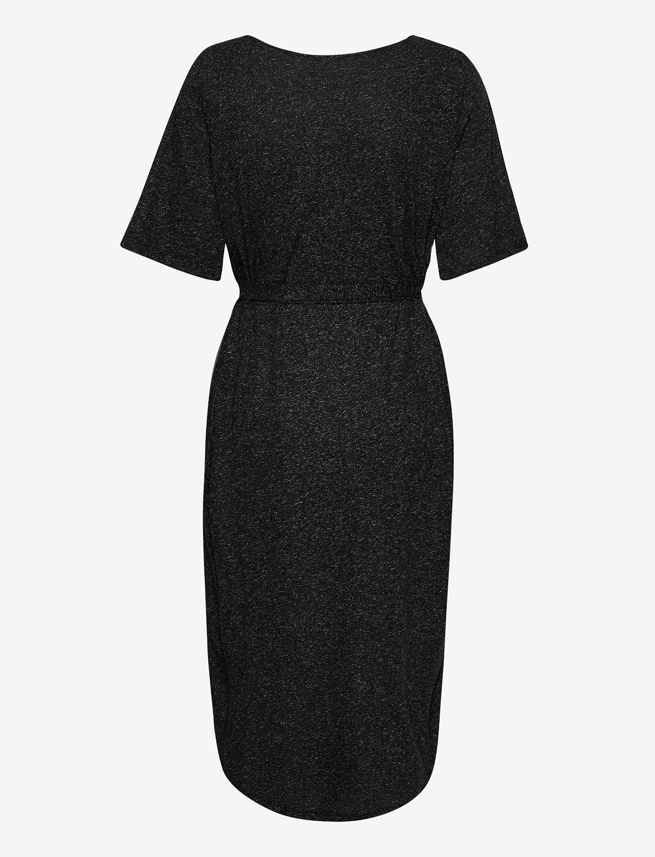 Selected Femme - SLFIVY 2/4EACH DRESS SOLID M - sommerkleider - black - 1