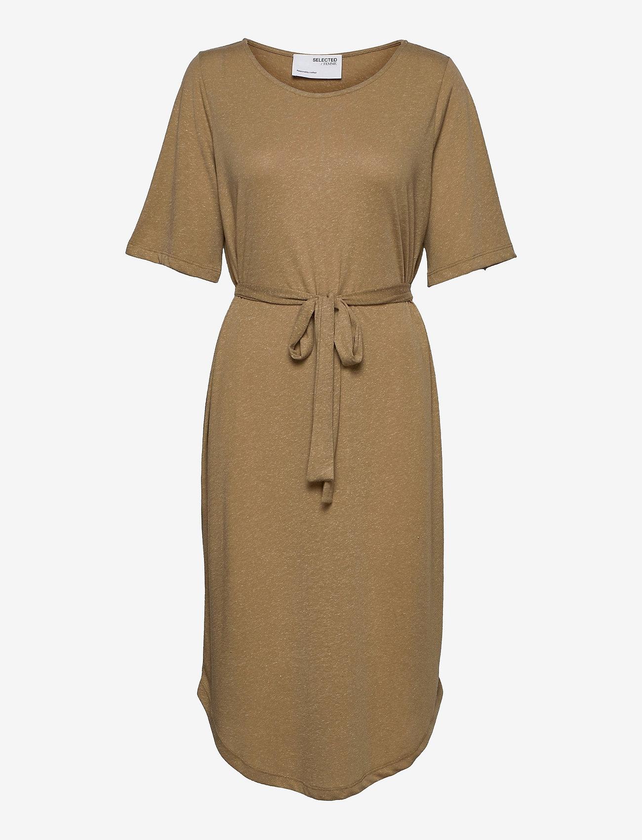 Selected Femme - SLFIVY 2/4EACH DRESS SOLID M - sommerkleider - kelp - 0