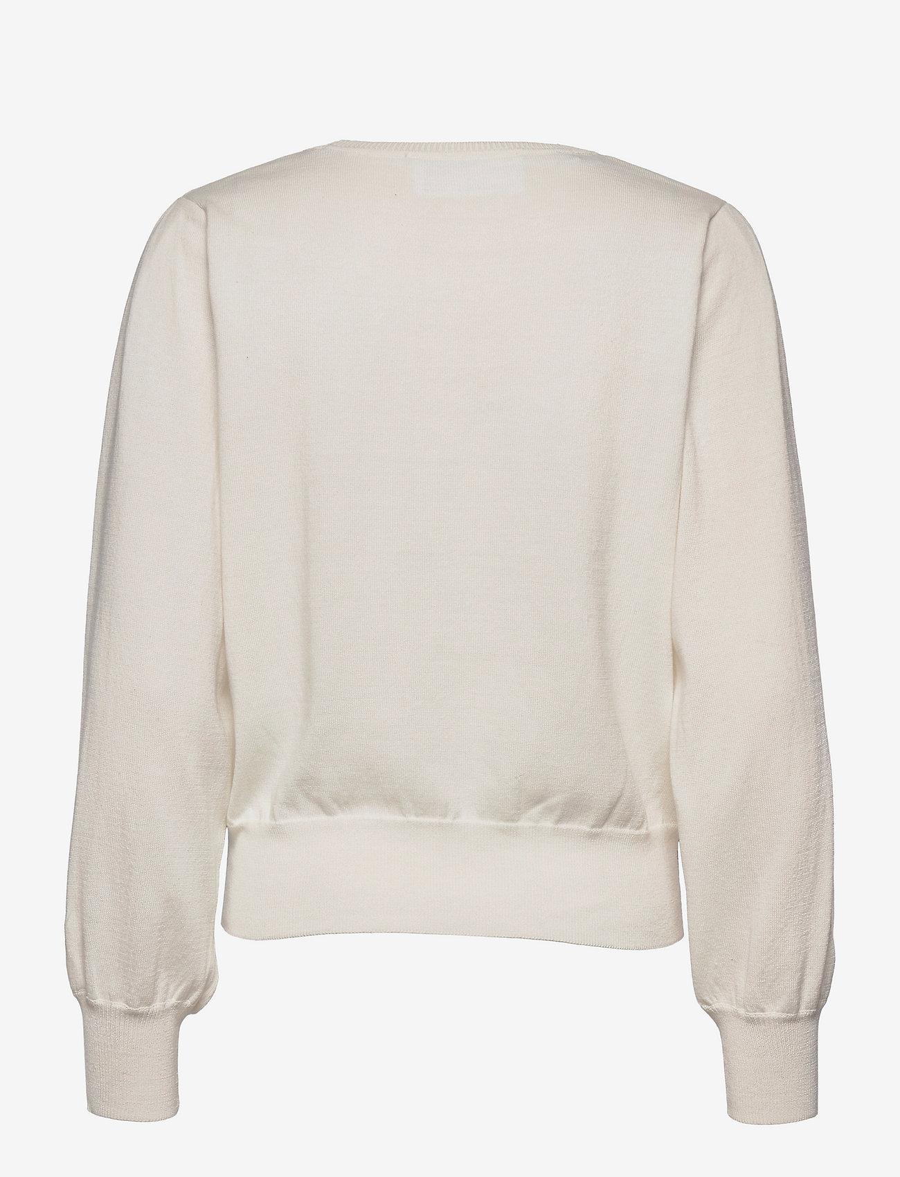 Selected Femme - SLFAMANDA LS KNIT O-NECK M - pullover - snow white - 1