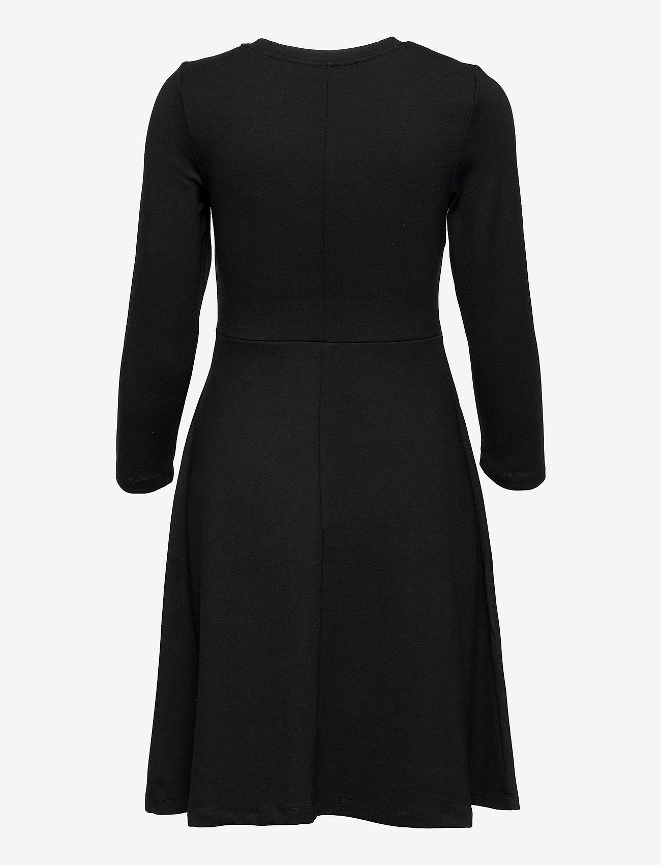 Selected Femme - SLFSTELLA 7/8 SKATER DRESS B - sommerkleider - black - 1