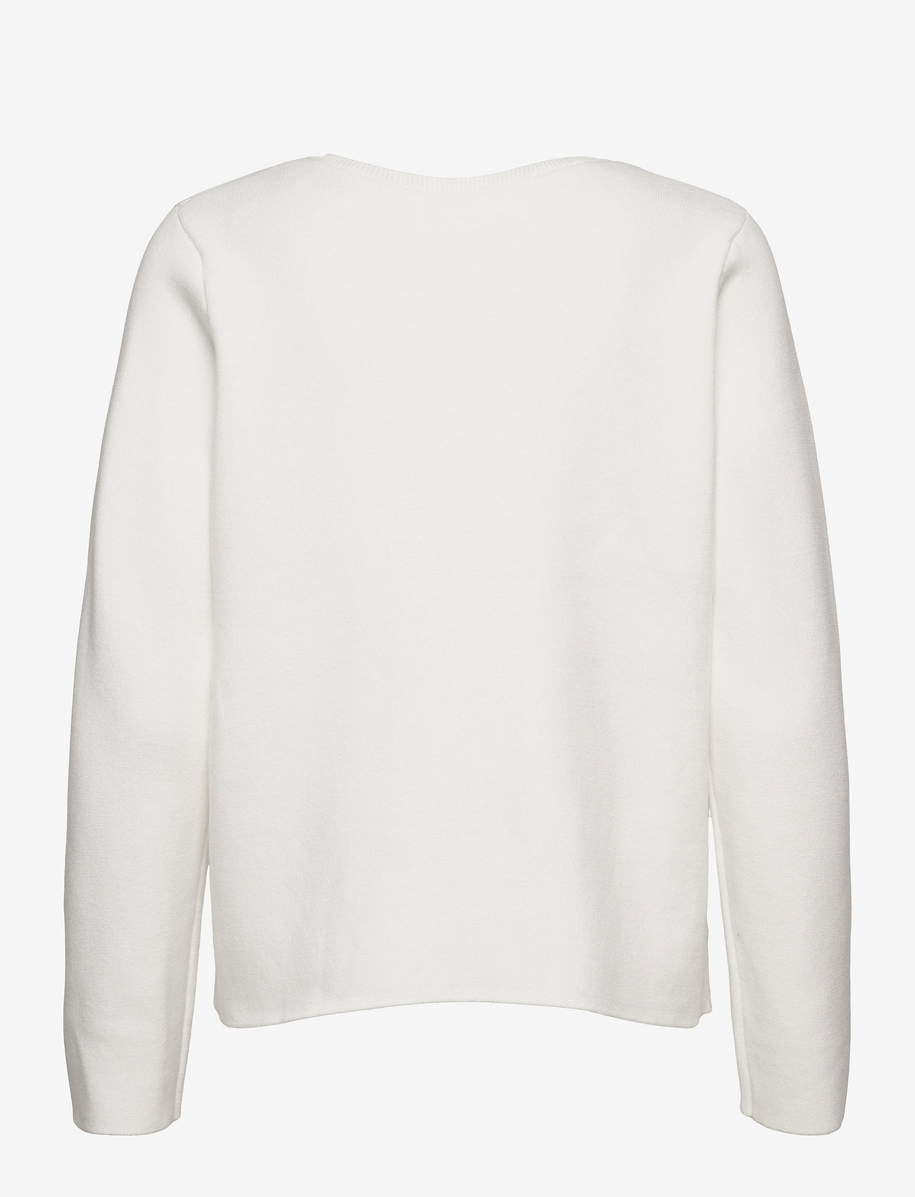 Selected Femme - SLFMERLE LS KNIT O-NECK M - pullover - snow white - 1