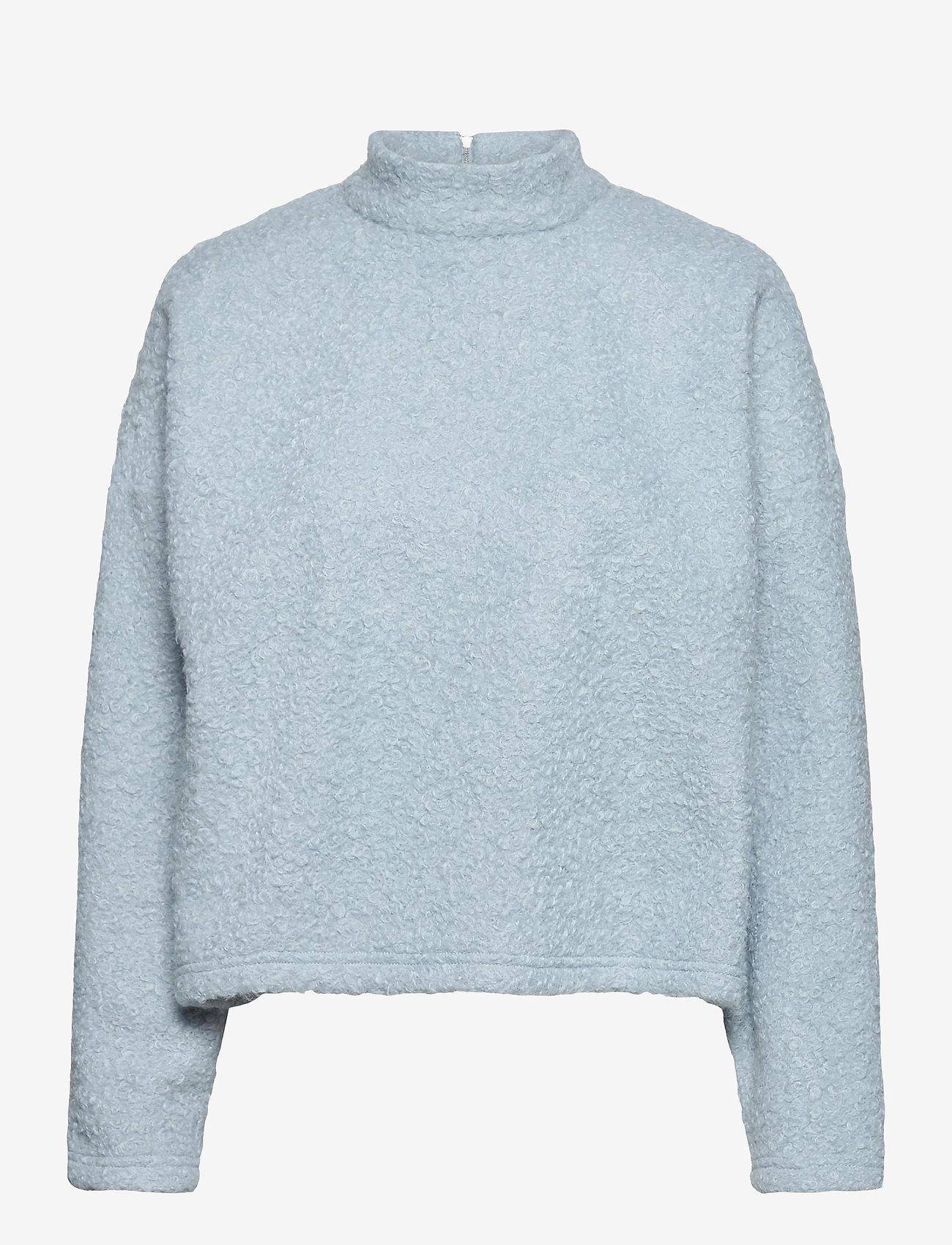 Selected Femme - SLFHALLI LS TOP EX - fleece jassen - cashmere blue - 0
