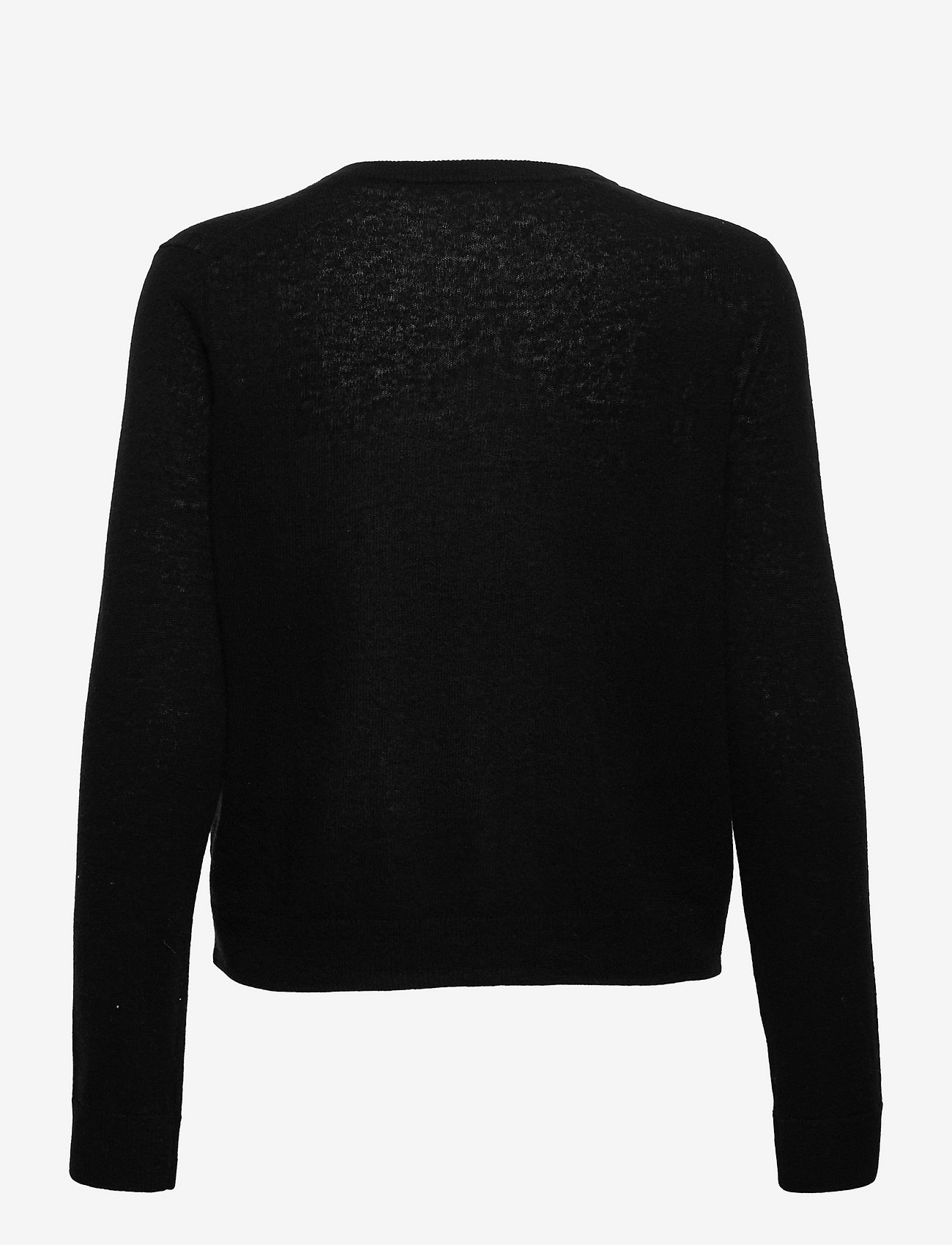 Selected Femme - SLFFUDGE CASHMERE LS KNIT CARDIGAN B - cardigans - black - 1