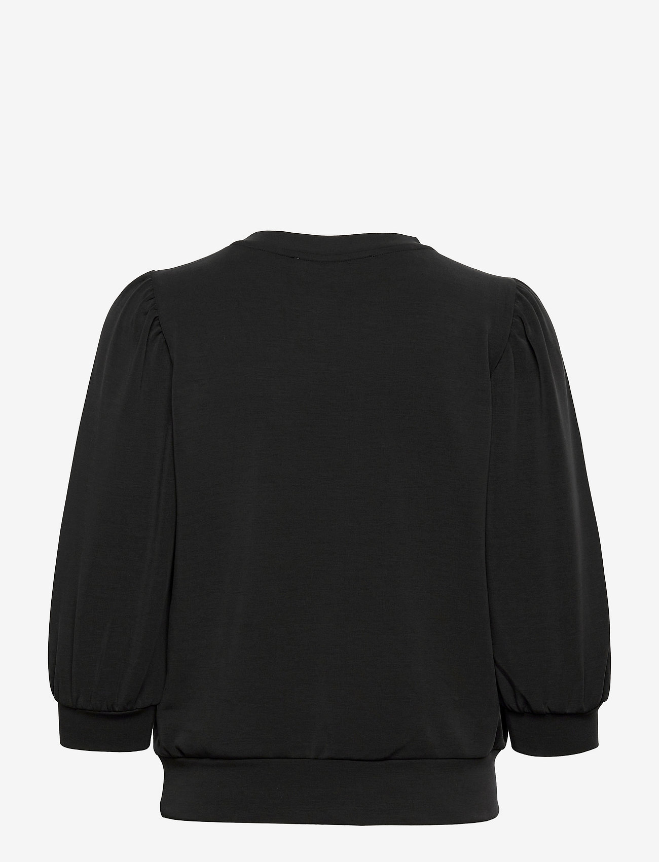 Selected Femme - SLFTENNY 3/4 SWEAT TOP - sweatshirts - black - 1