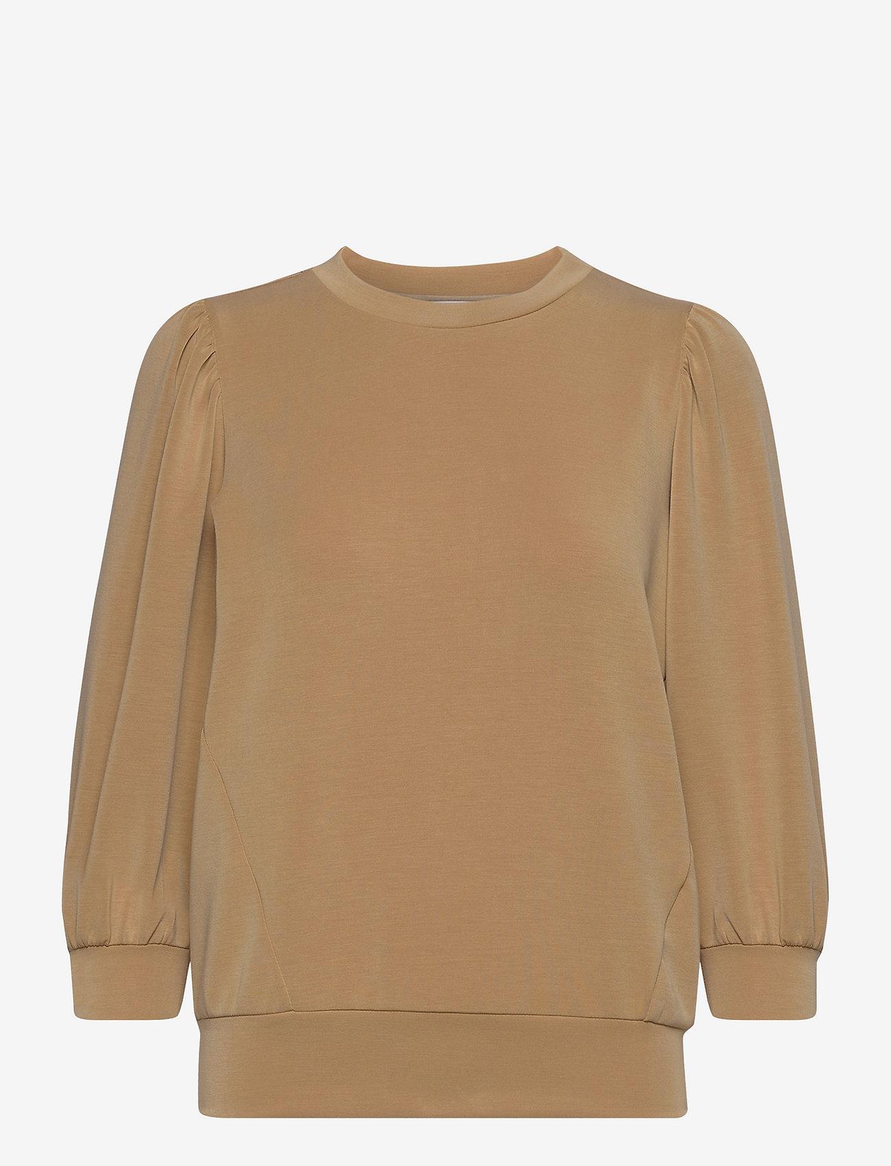 Selected Femme - SLFTENNY 3/4 SWEAT TOP - sweatshirts - tannin - 0