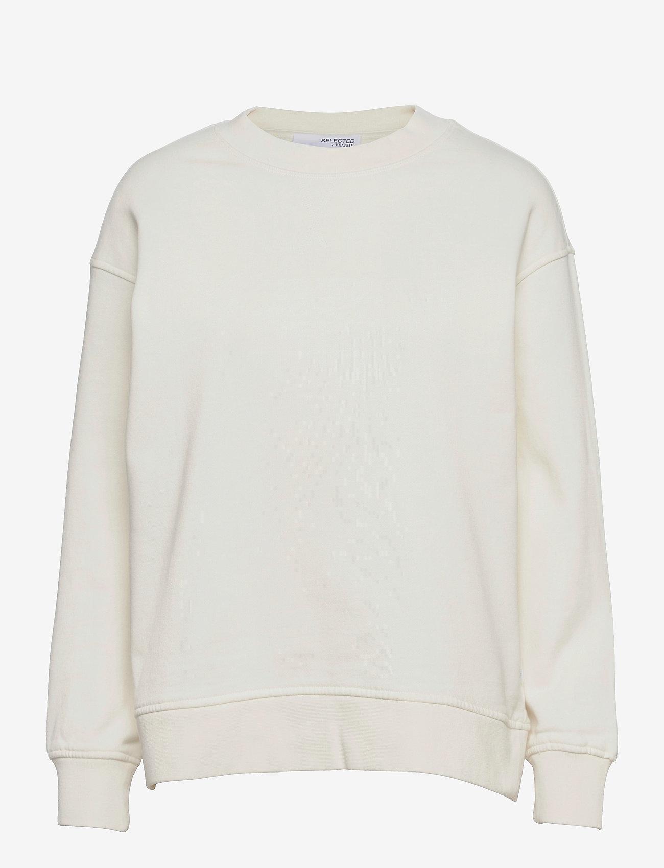 Selected Femme - SLFSTASIE LSWEAT - sweatshirts & hoodies - pristine - 0