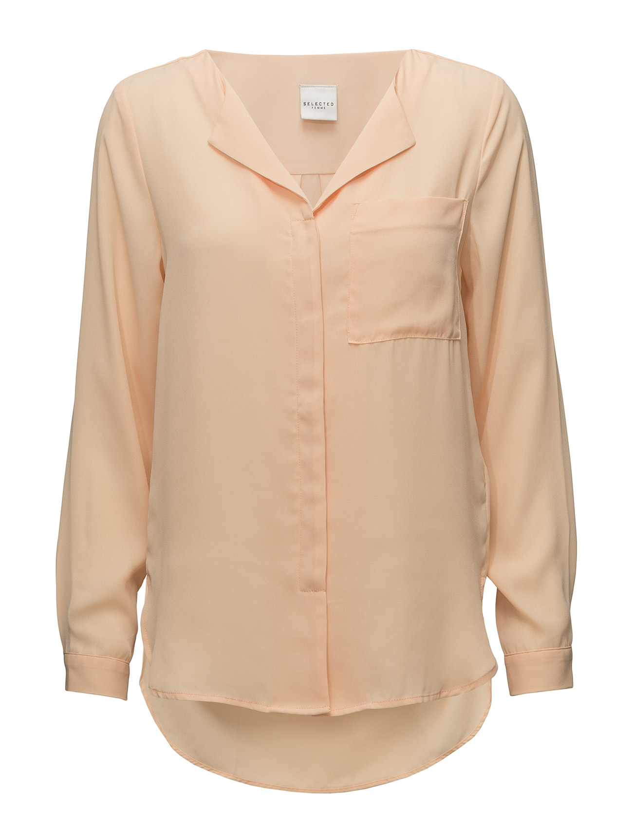 Selected Femme SLFDYNELLA LS SHIRT - APRICOT ICE