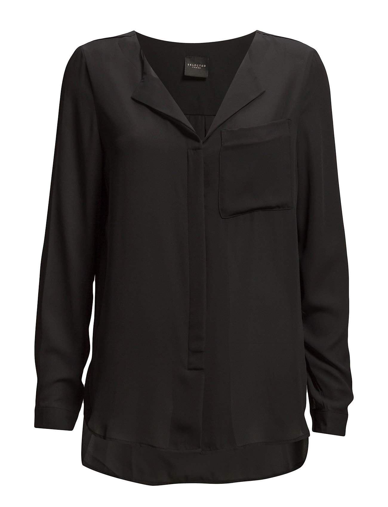 Selected Femme SLFDYNELLA LS SHIRT NOOS - BLACK