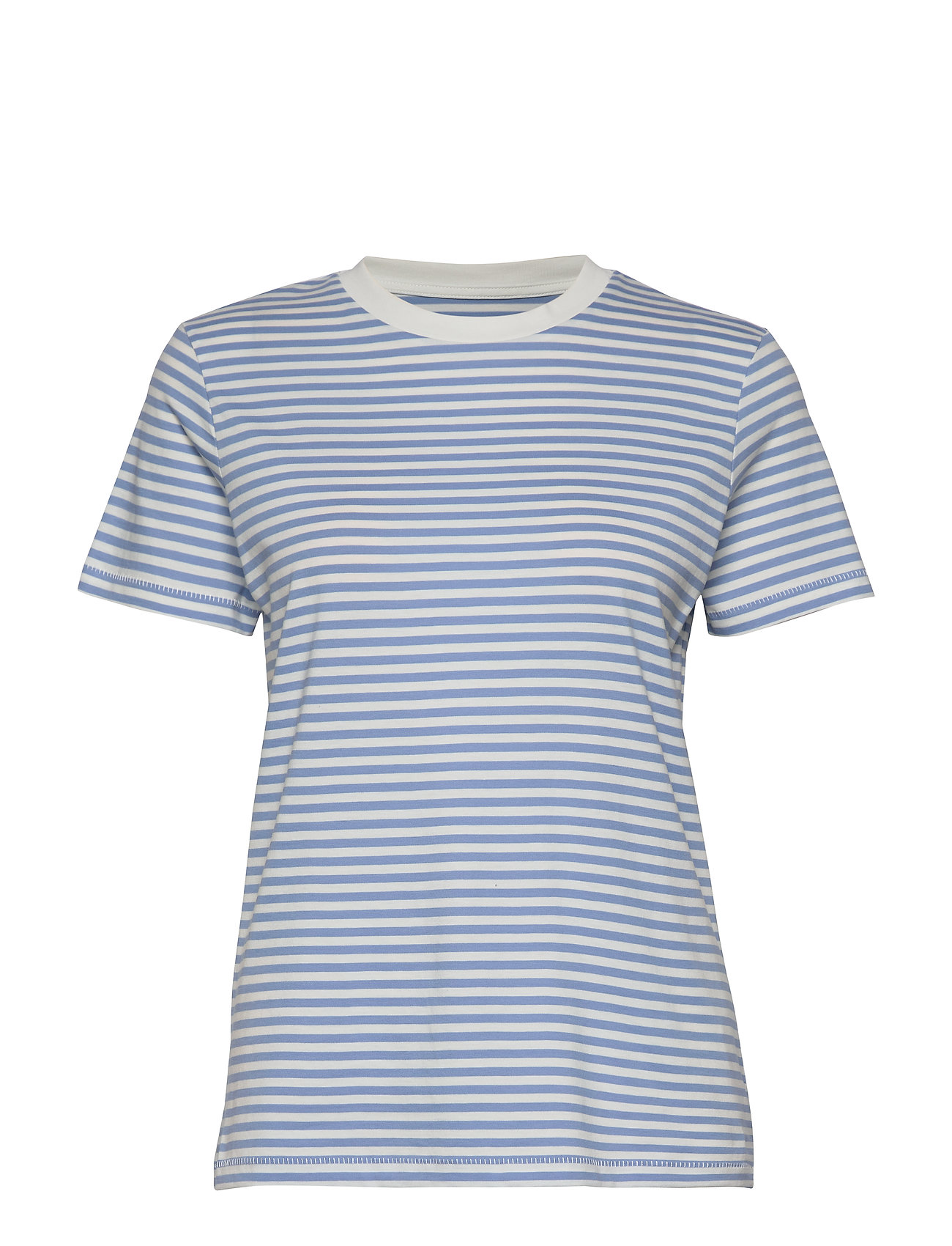 Selected Femme SLFMY PERFECT SS TEE BOX CUT-STRI. NOOS - DELLA ROBBIA BLUE