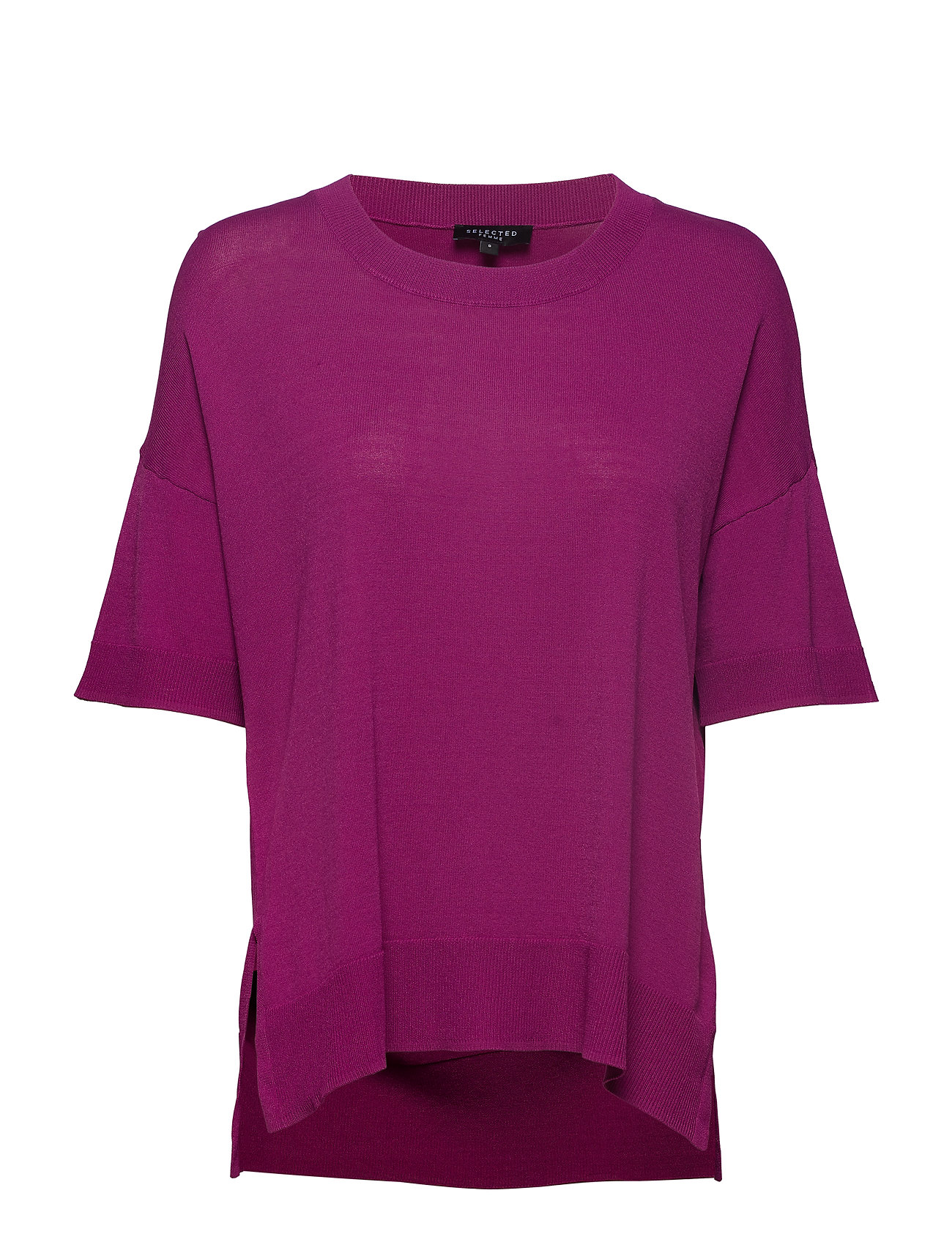 Image of Sfwille Ss Knit Pullover Bluse Kortærmet Lilla SELECTED FEMME (3136917813)