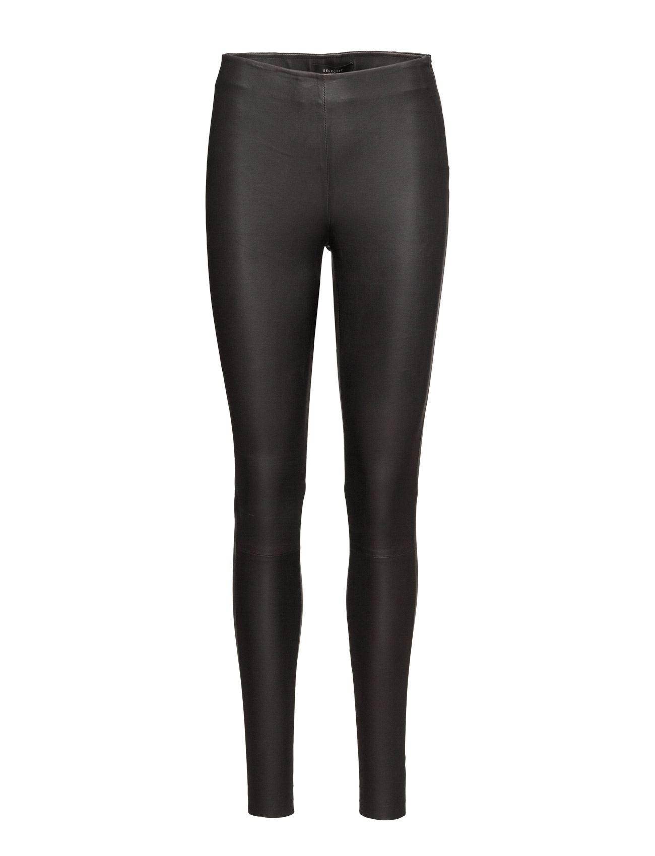 Selected Femme SFSYLVIA MW STRETCH LEATHER LEGGING NOOS