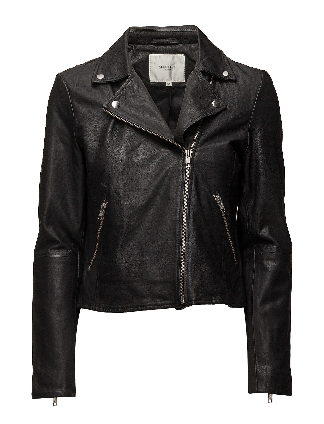 Selected Femme SLFMARLEN LEATHER JACKET NOOS B