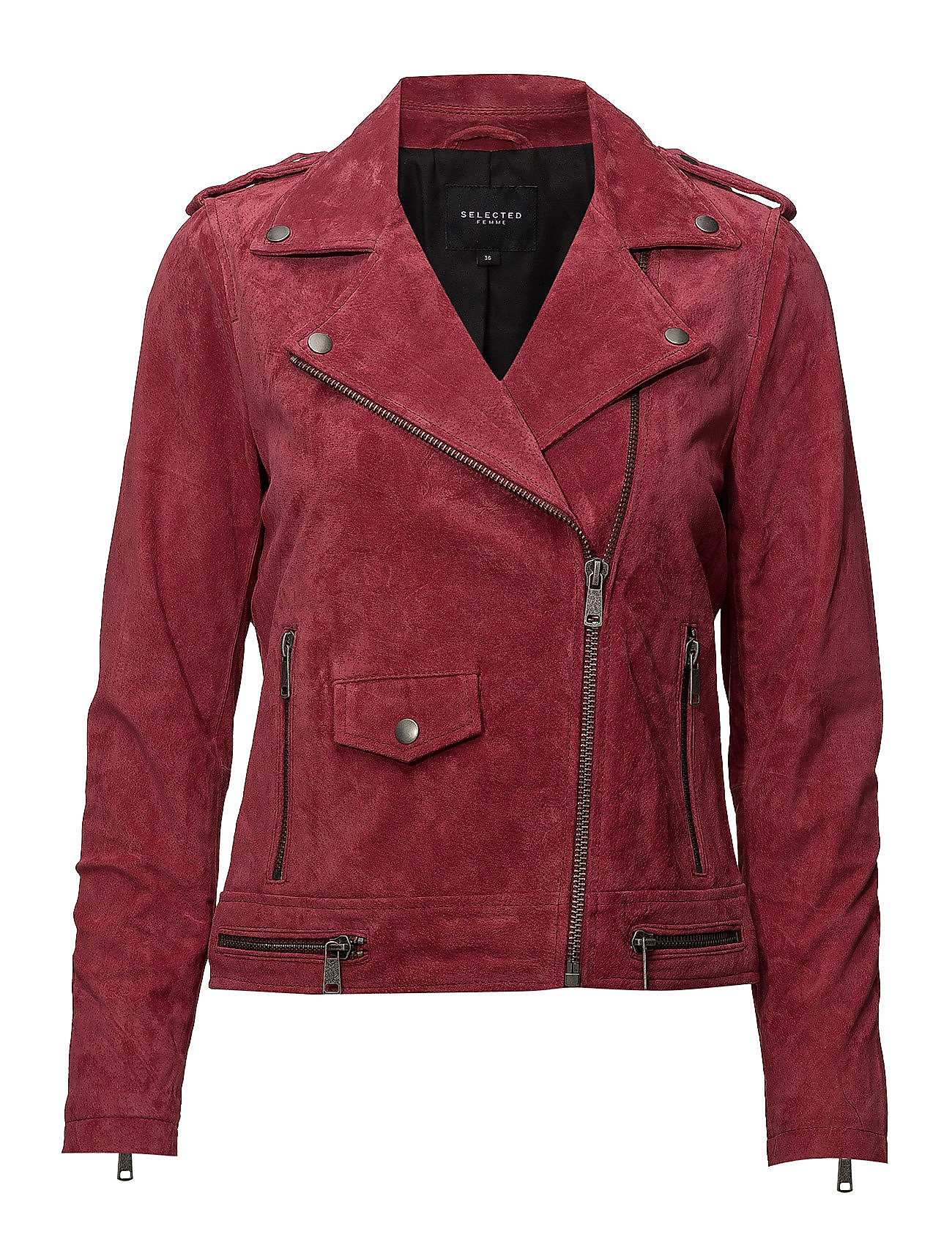 Selected Femme SFLORE SUEDE JACKET CAMP