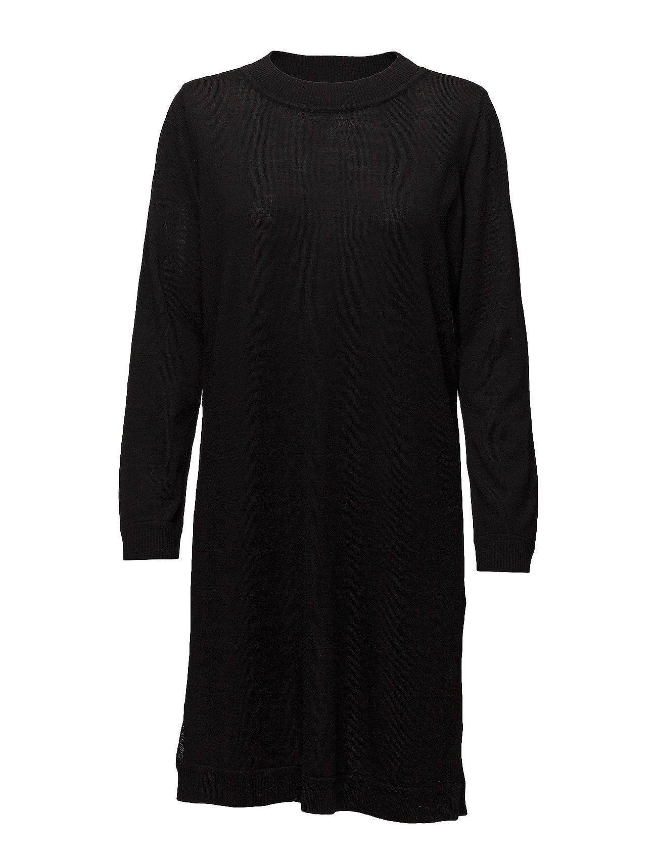 Selected Femme SFEILEEN LS KNIT O-NECK DRESS NOOS - BLACK