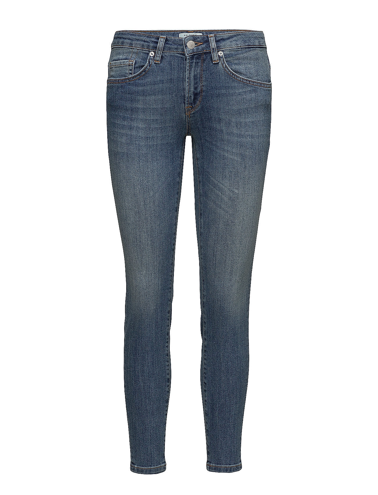 8dec6551 Selected Femme Sfida Mw Cropped Jeans Blue Water Noos (Medium Blue ...
