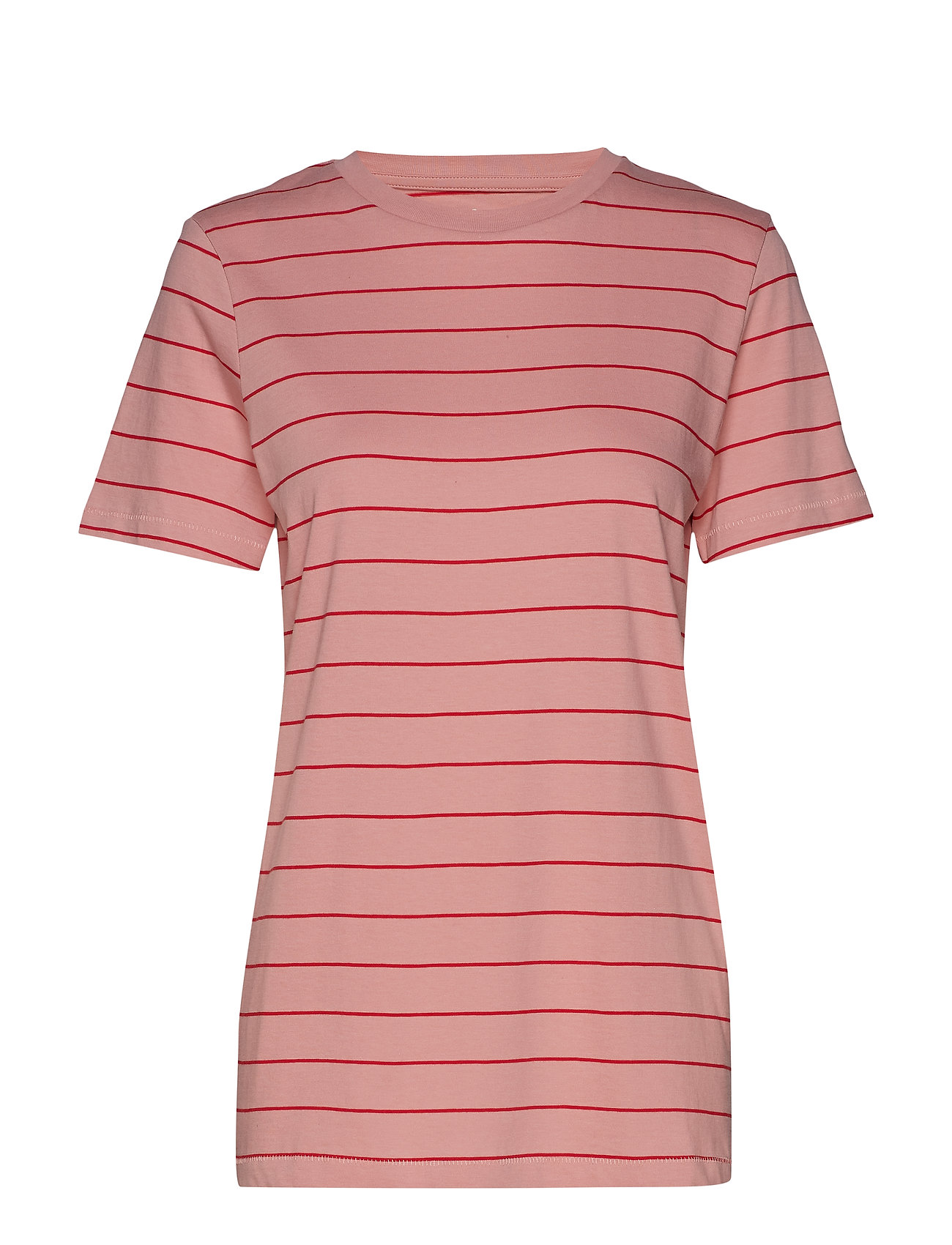 Selected Femme SLFMY PERFECT SS TEE THIN STRIPE COLOR - BRIDAL ROSE