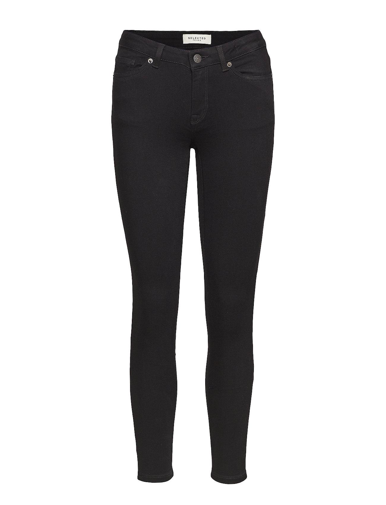 Selected Femme SLFIDA MW SKINNY svart JEANS W NOOS Jeans