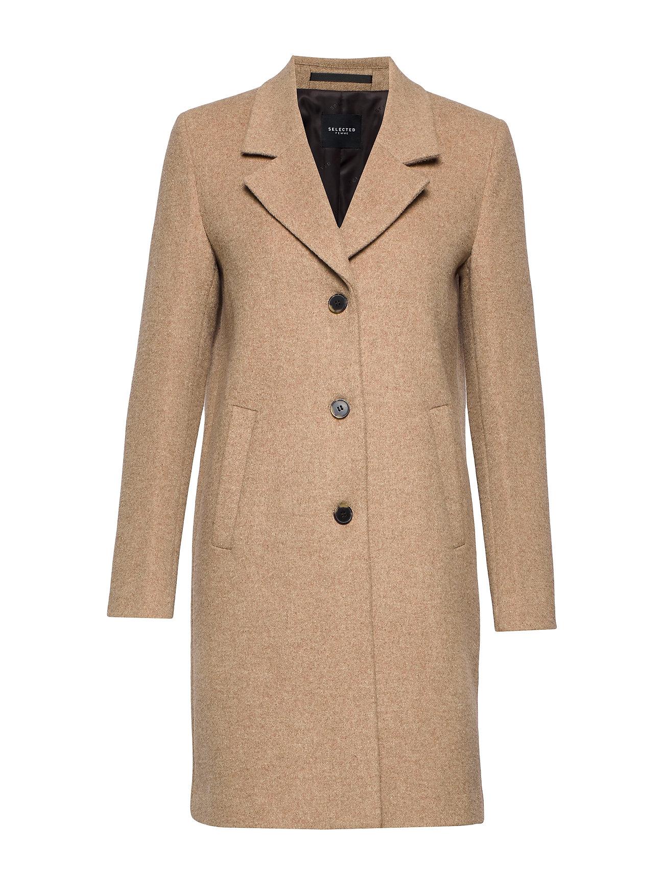 SELECTED Slfsasja Wool Coat Noos B Wollmantel Mantel Beige SELECTED FEMME