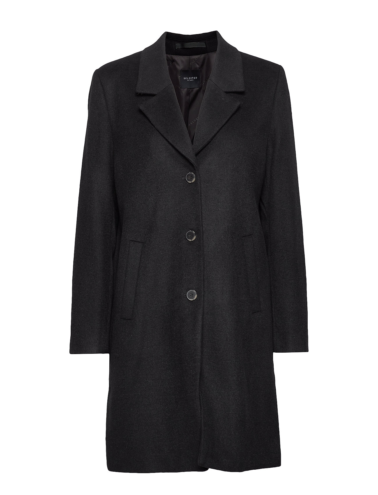 Selected Femme SLFSASJA WOOL COAT NOOS B - BLACK