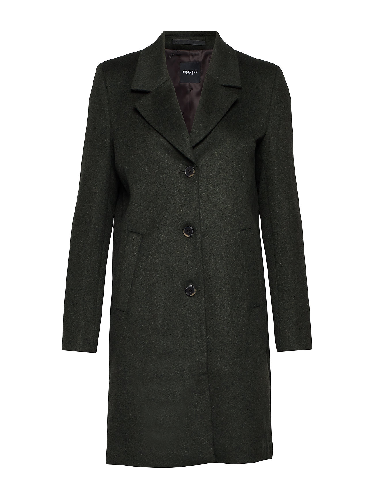 Selected Femme SLFSASJA WOOL COAT NOOS B - ROSIN