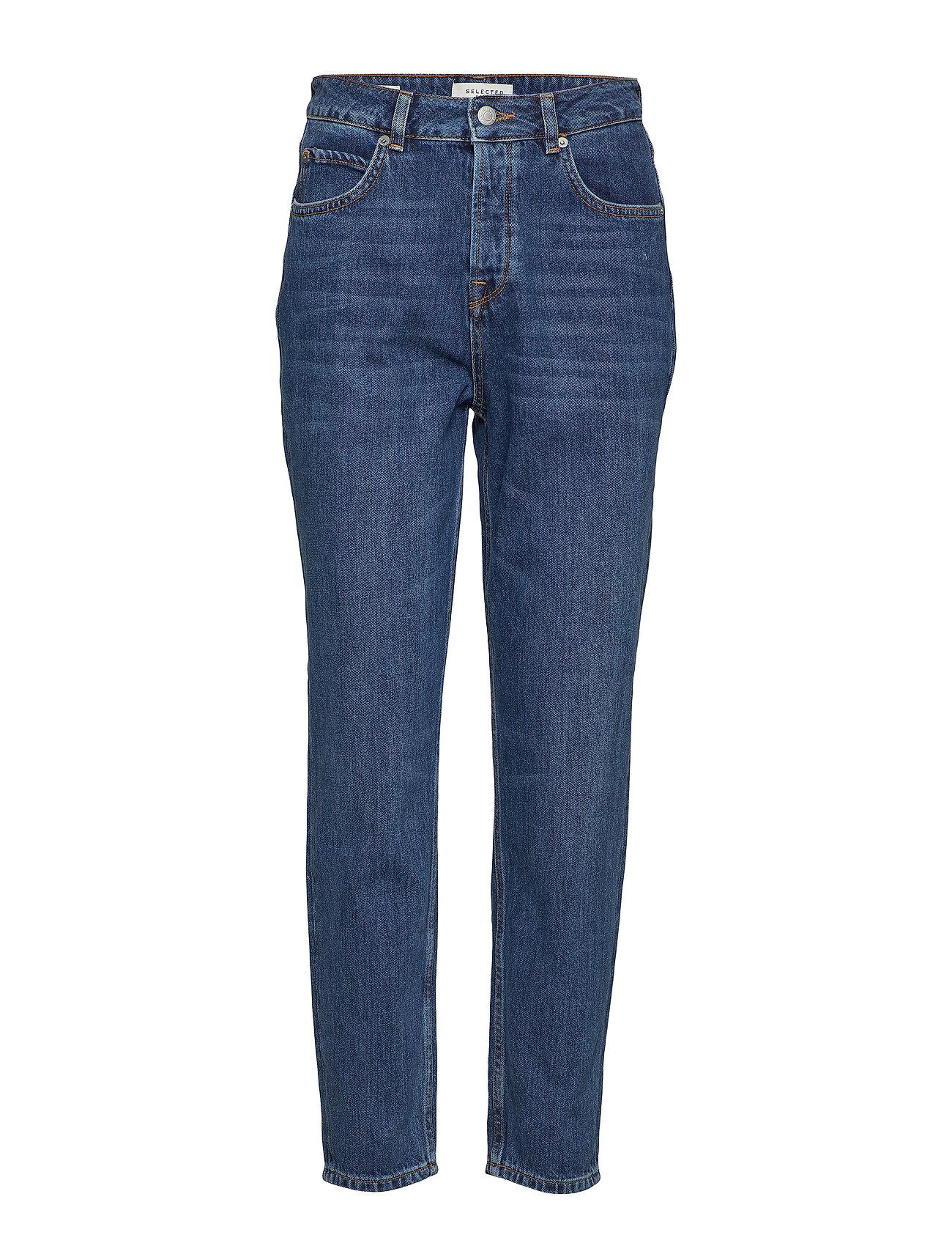 Selected Femme SLFFRIDA HW MOM INKY blå JEANS W Jeans