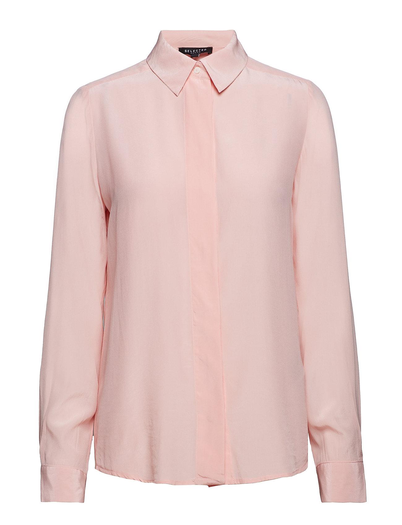 SELECTED Slfodette Ls Silk Shirt B Bluse Langärmlig Pink SELECTED FEMME