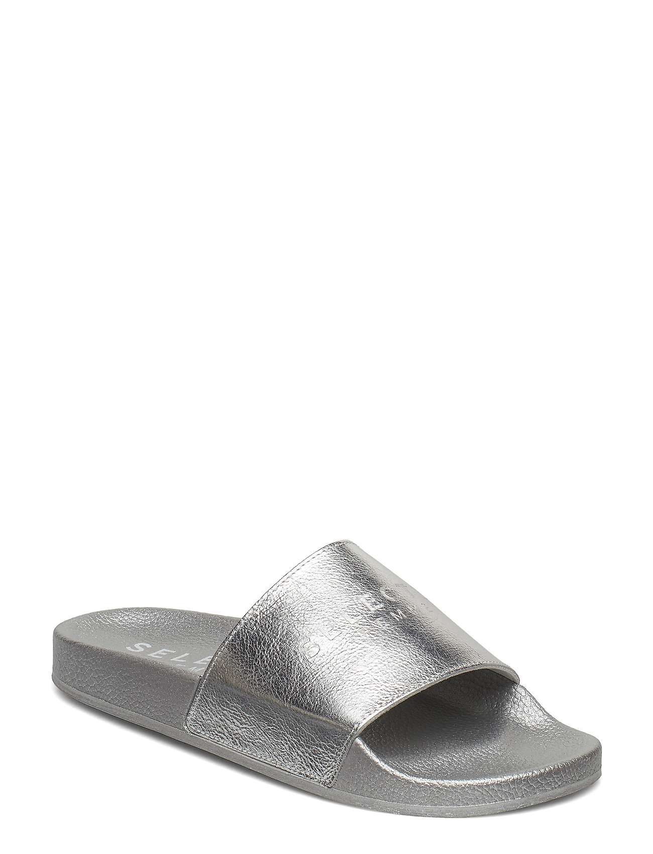 9b9428478a5 Slfsteph Leather Slider B (Silver) (32.49 €) - Selected Femme ...